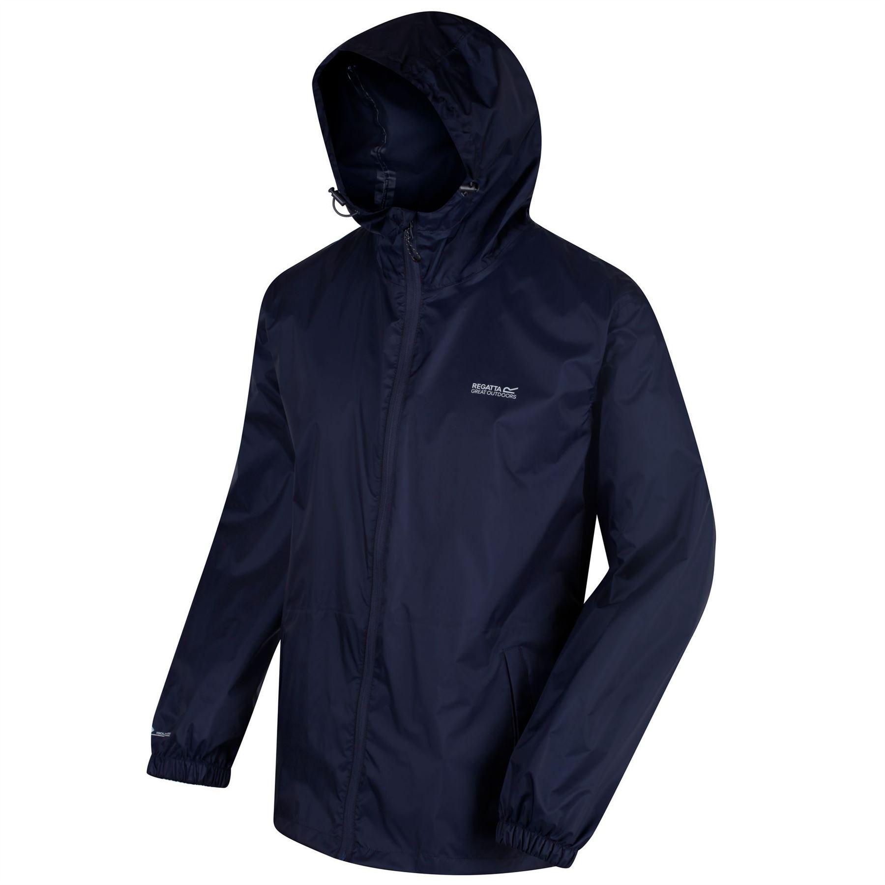 miniatuur 10 - Regatta Mens Pack-it In a bag Packable Waterproof Jacket Outdoor Pack a mac