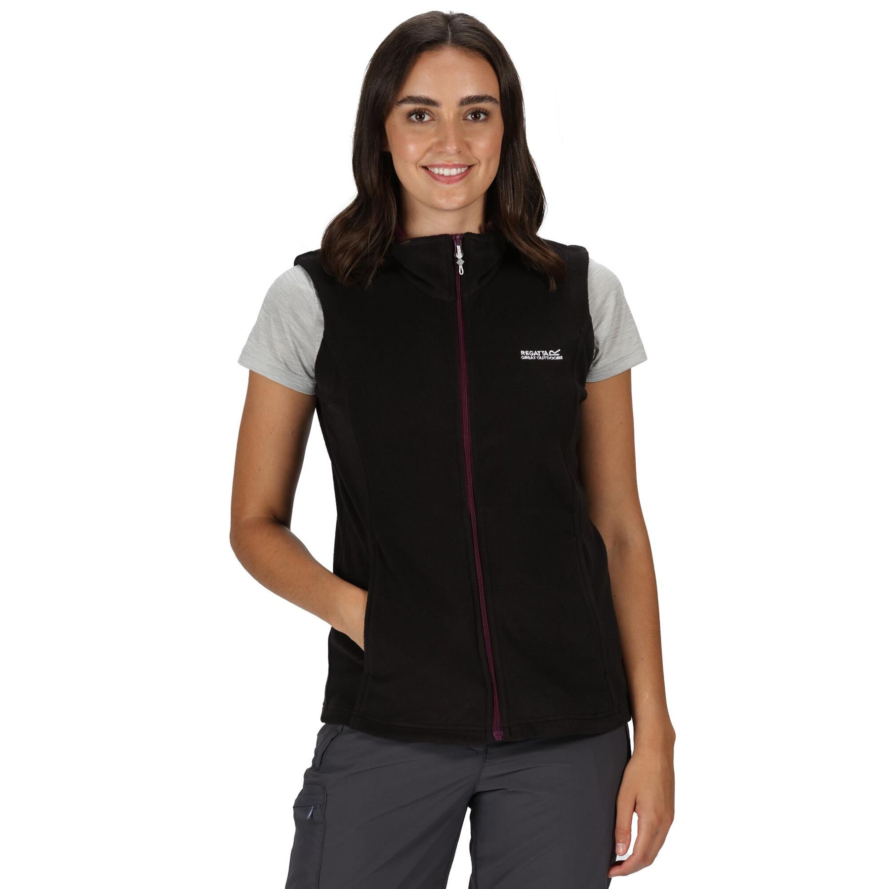 miniatuur 3 - Regatta Womens Sweetness Full Zip Micro Fleece Casual Bodywarmer Waistcoat