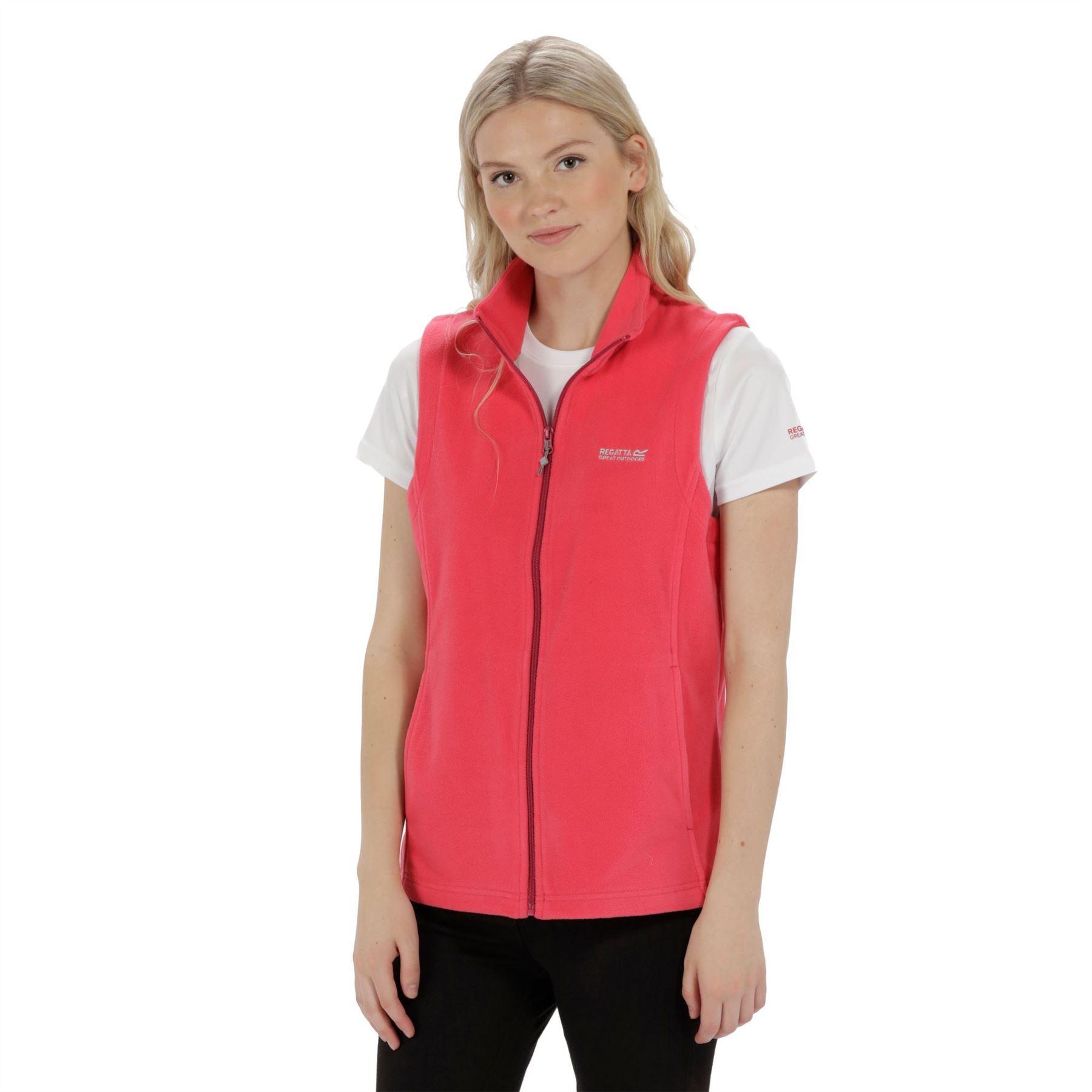 miniatuur 18 - Regatta Womens Sweetness Full Zip Micro Fleece Casual Bodywarmer Waistcoat