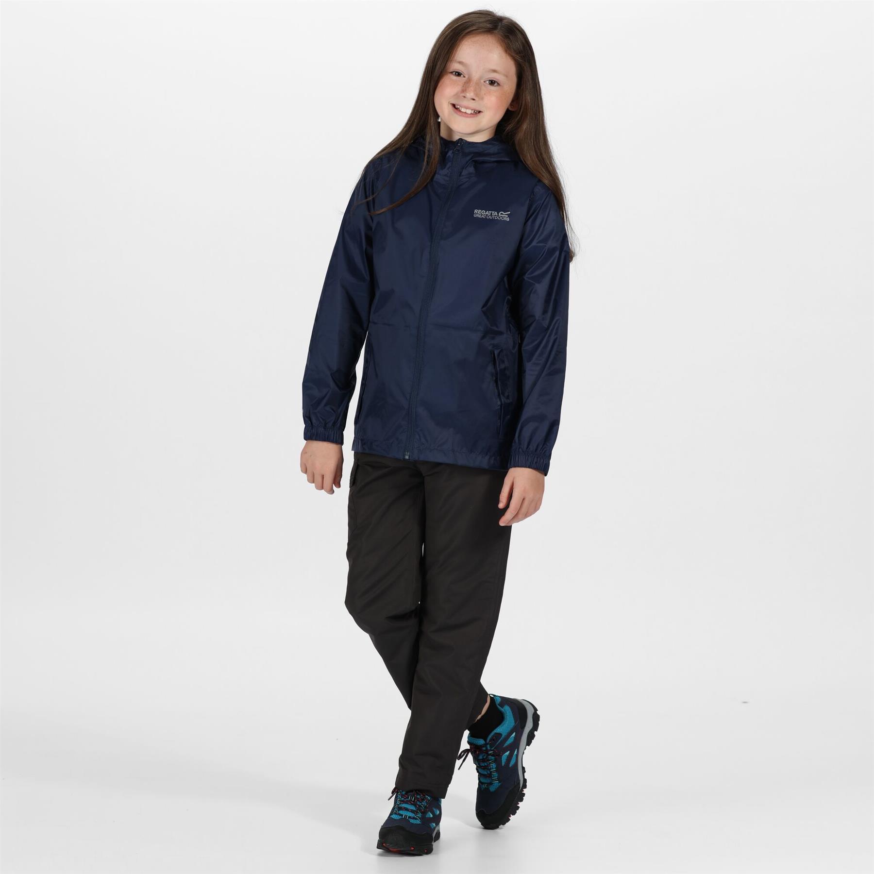 miniatuur 16 - Regatta Kids Pack it Jacket II Lightweight Waterproof Packaway Jacket Boys Girls