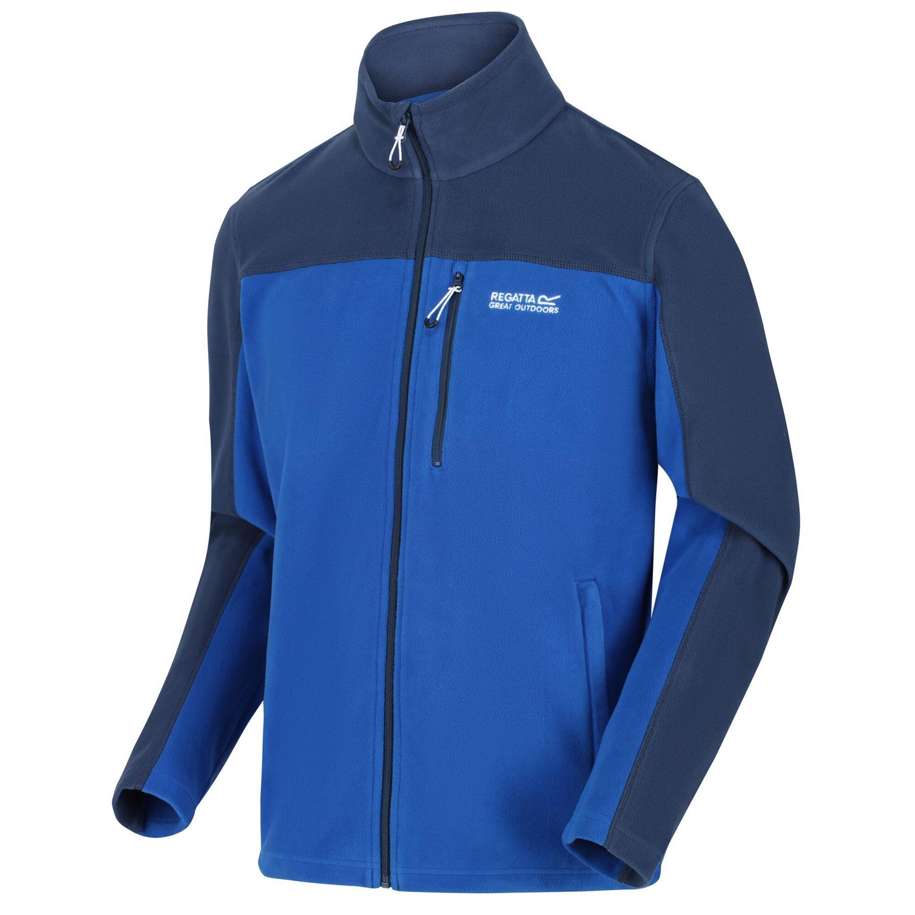 miniatuur 7 - Regatta Mens Fellard Fleece Jacket Full Zip Up Coat S M L XL 2XL 3XL 4XL