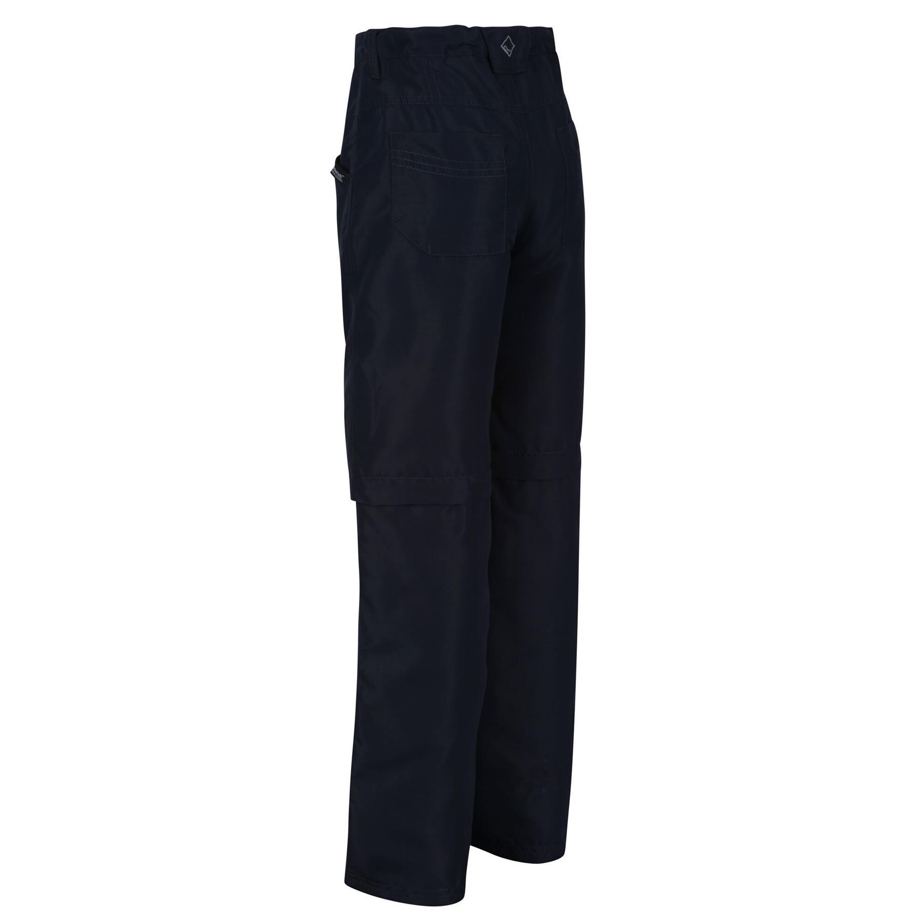 miniatuur 5 - Regatta Kids Sorcer II Zip Off Convertible Trousers Boys Girls