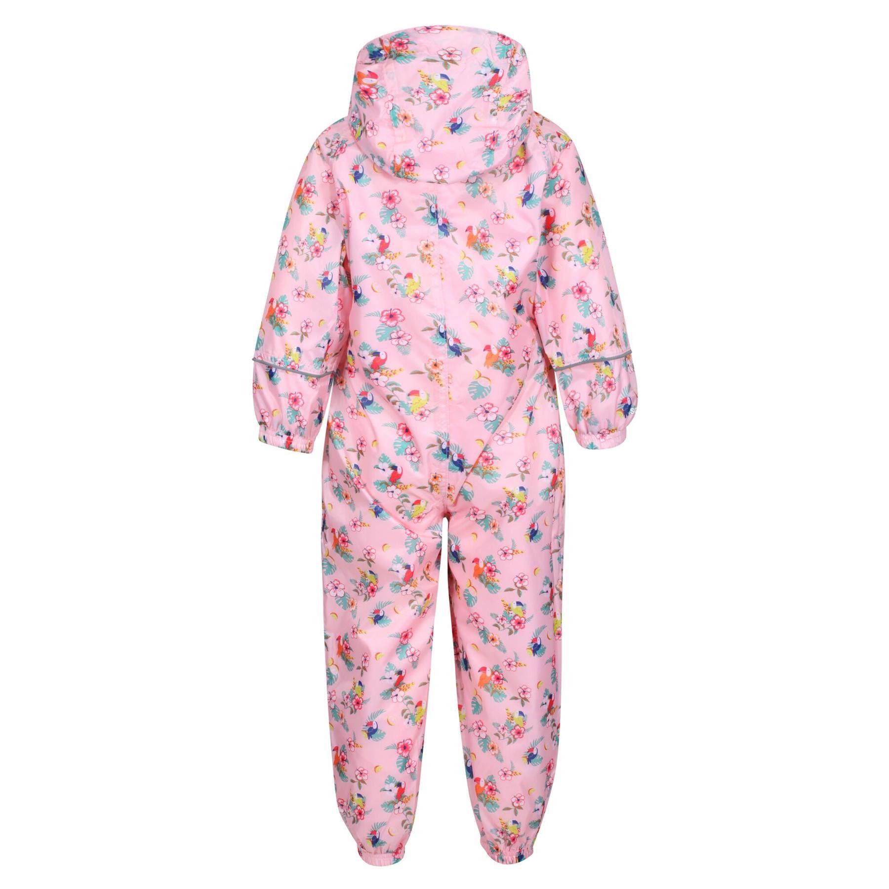 miniatuur 19 - Regatta Pobble Rain suit Waterproof All In One Childrens Kids Boys Girls