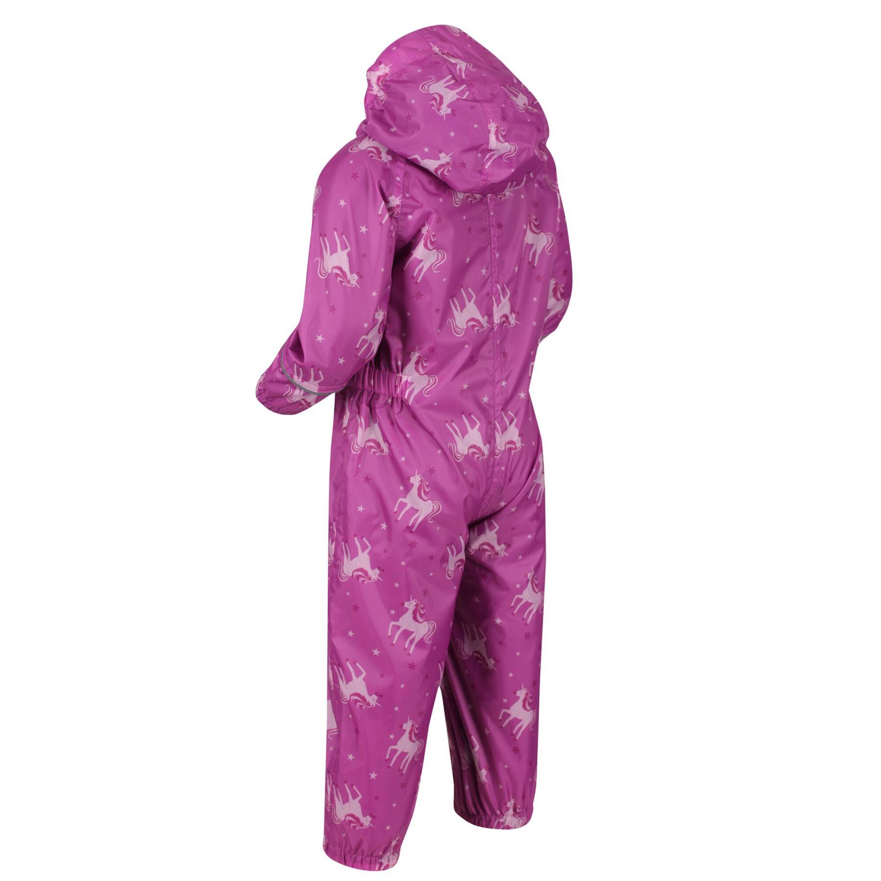 miniatuur 27 - Regatta Pobble Rain suit Waterproof All In One Childrens Kids Boys Girls
