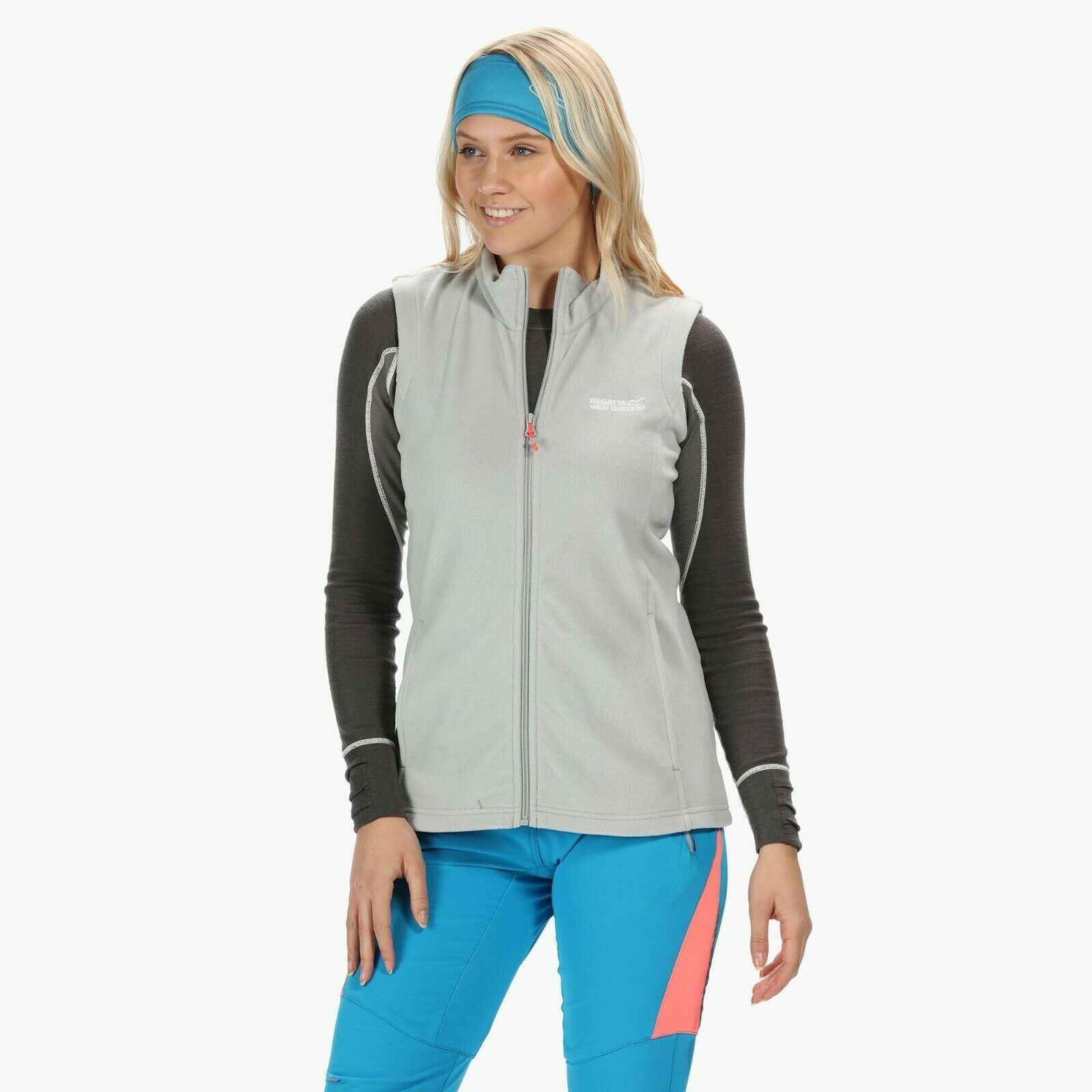 miniatuur 13 - Regatta Womens Sweetness Full Zip Micro Fleece Casual Bodywarmer Waistcoat