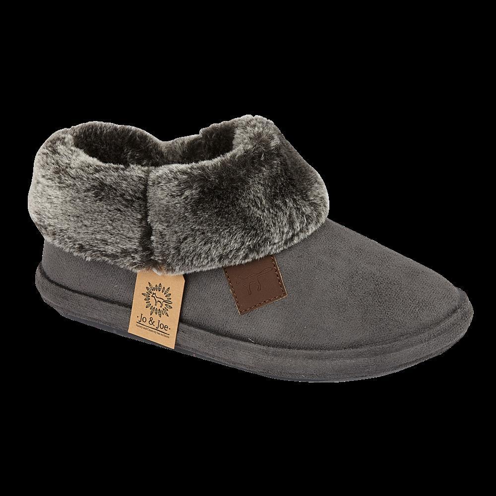 miniatuur 3 - Jo & Joe Womens Luxury Slippers Winter Warm Fur Slip On Flat Mule Bootie Girls