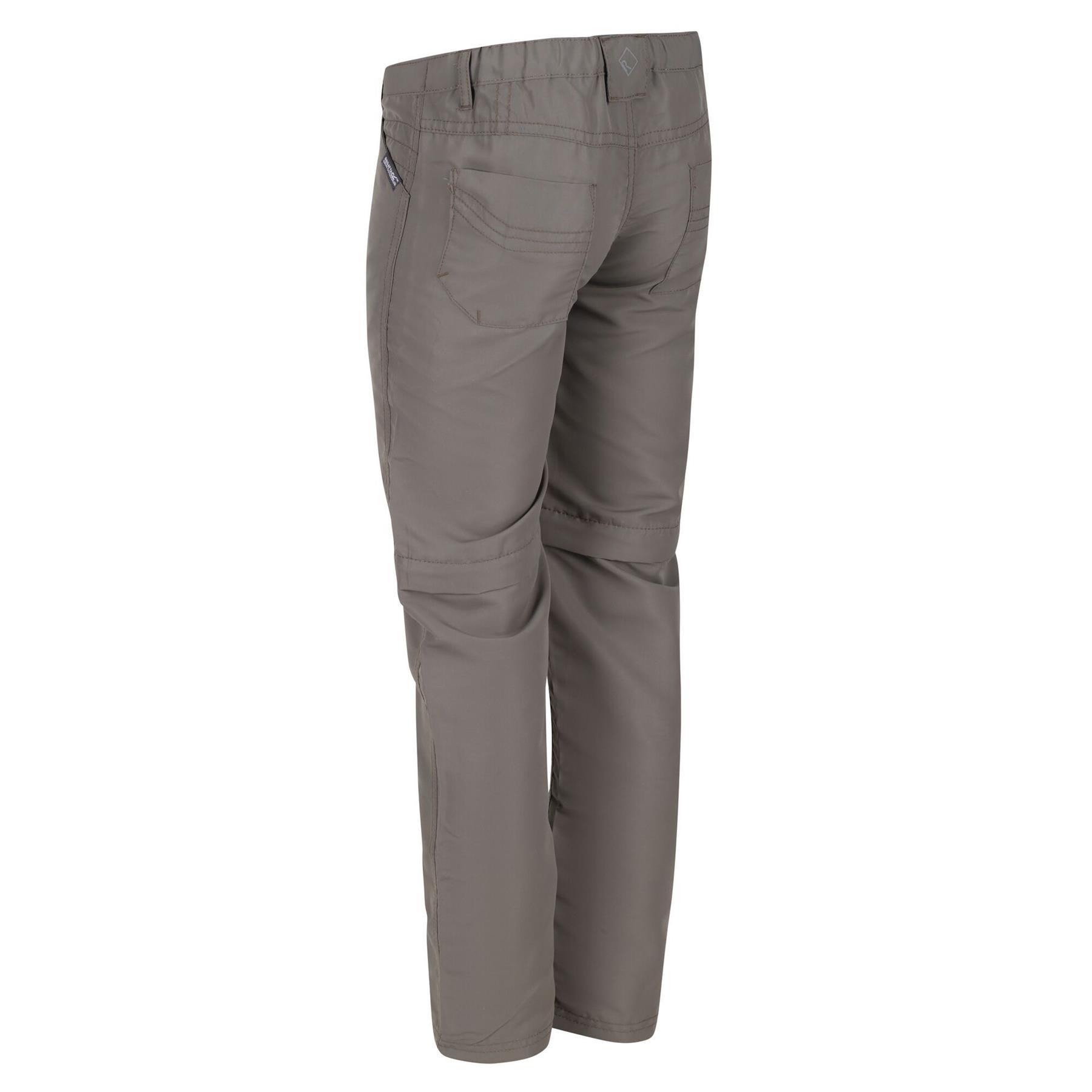 miniatuur 10 - Regatta Kids Sorcer II Zip Off Convertible Trousers Boys Girls