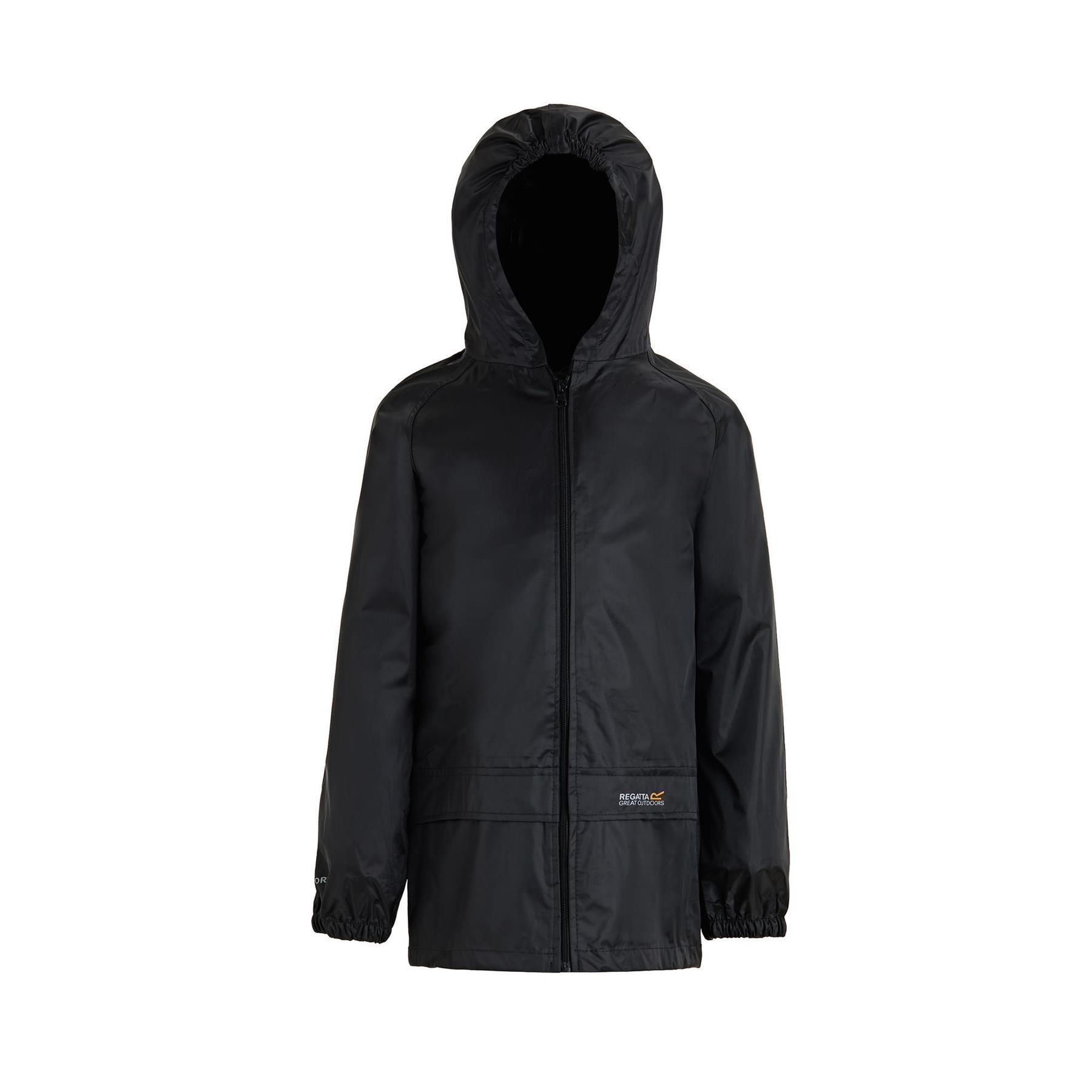 miniatuur 7 - Regatta Kids Waterproof Stormbreak Shell Jacket Hooded Rain coat Boys Girls