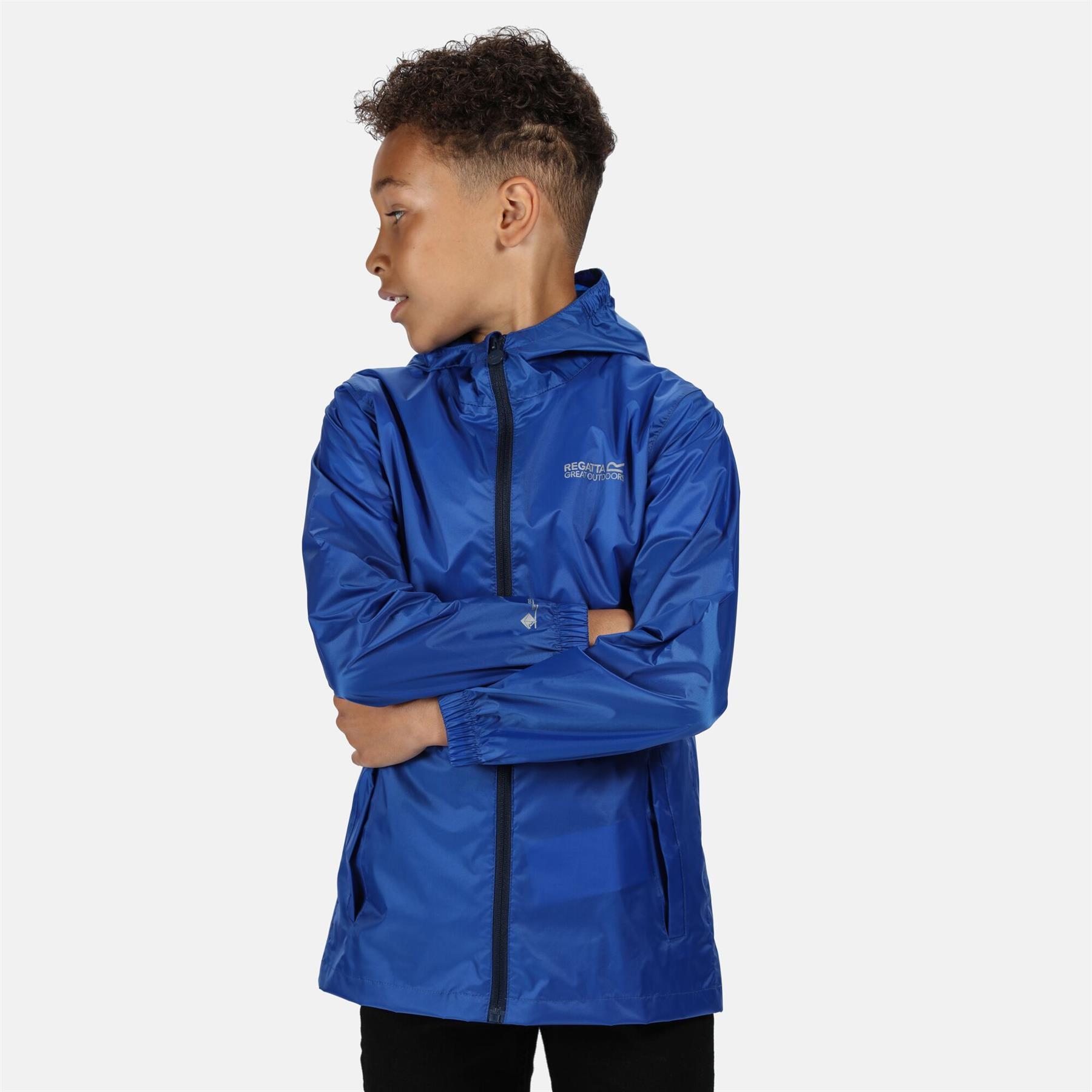 miniatuur 18 - Regatta Kids Pack it Jacket II Lightweight Waterproof Packaway Jacket Boys Girls