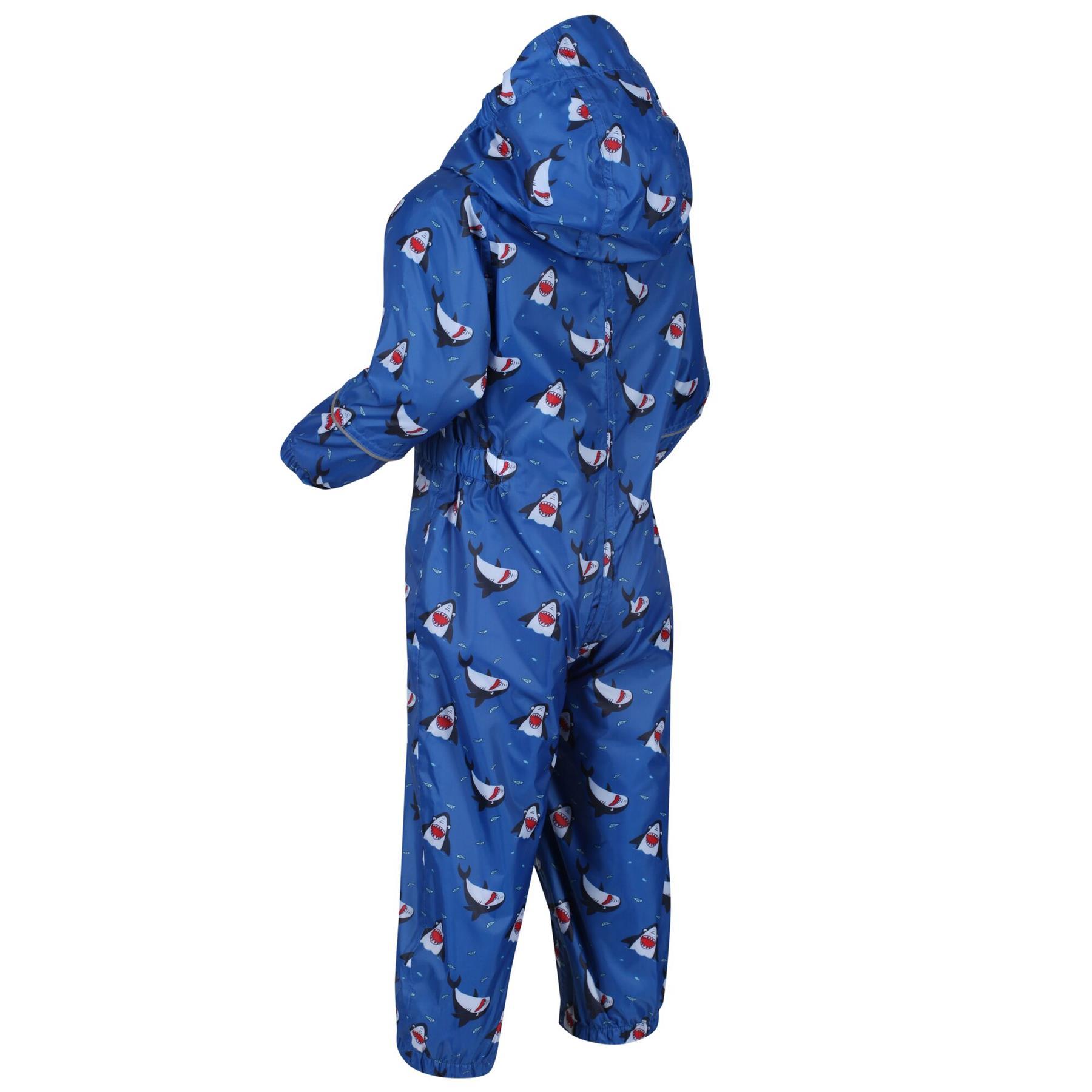 miniatuur 13 - Regatta Pobble Rain suit Waterproof All In One Childrens Kids Boys Girls