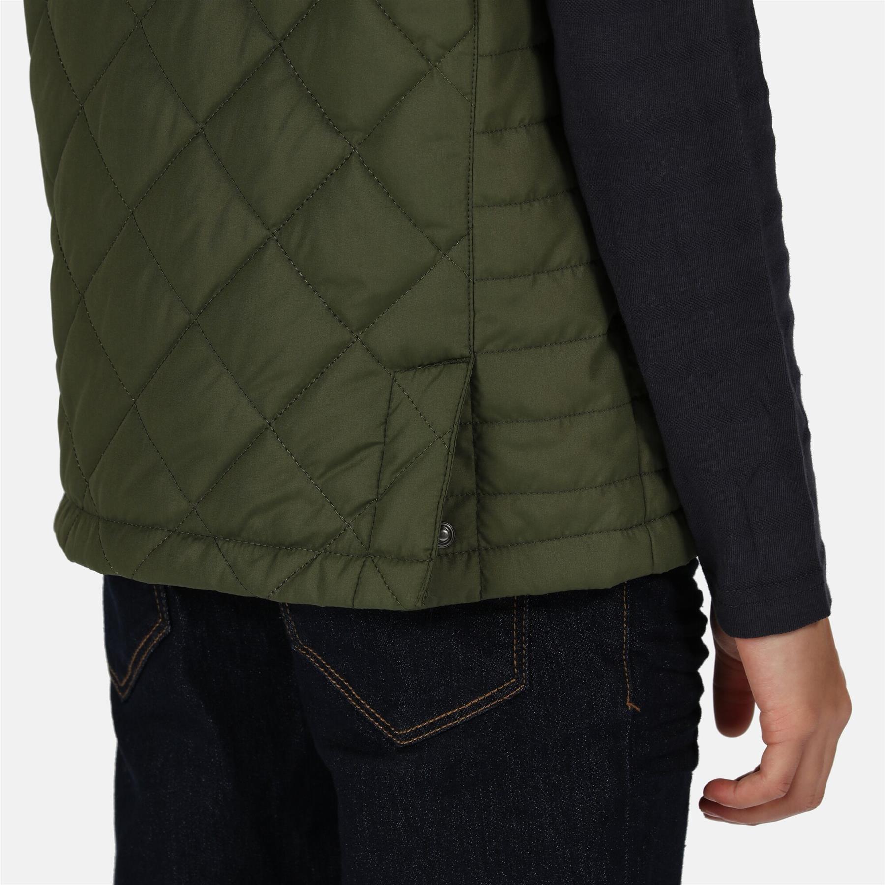 miniatuur 5 - Regatta Kids Zion Quilted Insulated Bodywarmer Gilet Zip Pockets