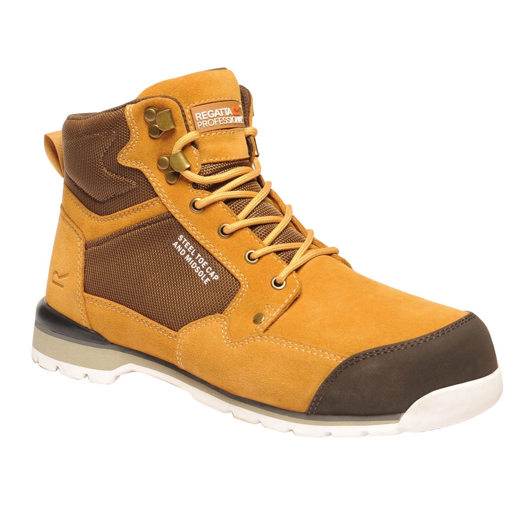 miniatuur 15 - Regatta Mens Work Safety Protective Shoes Steel Toe Cap Boots Workwear