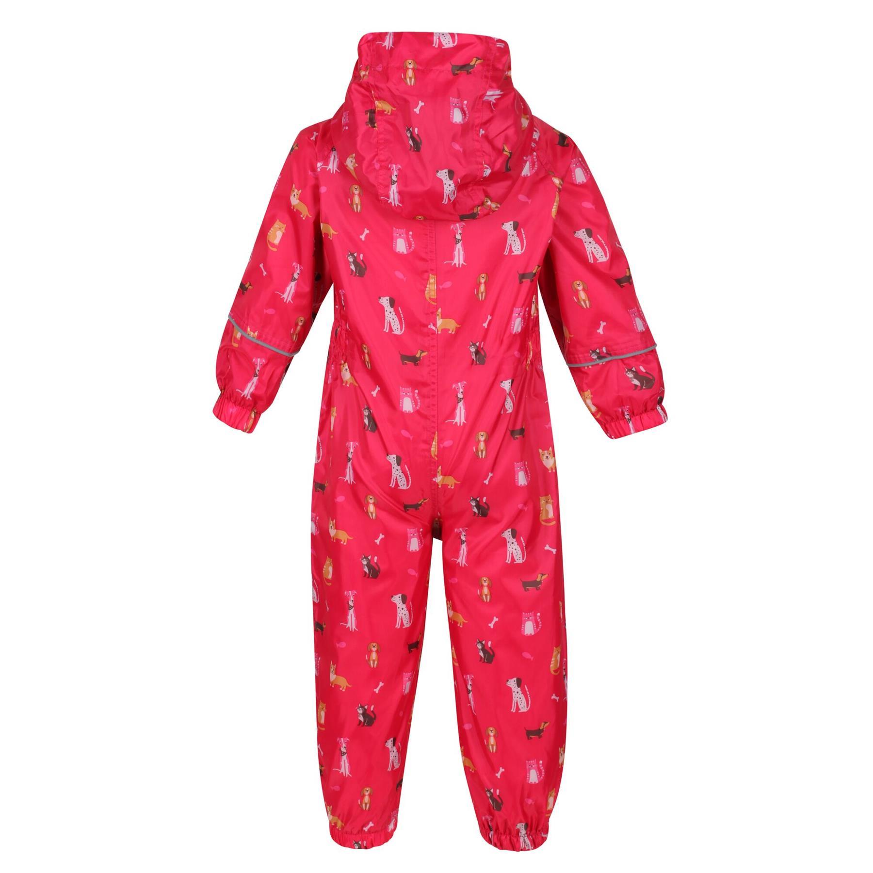 miniatuur 10 - Regatta Pobble Rain suit Waterproof All In One Childrens Kids Boys Girls