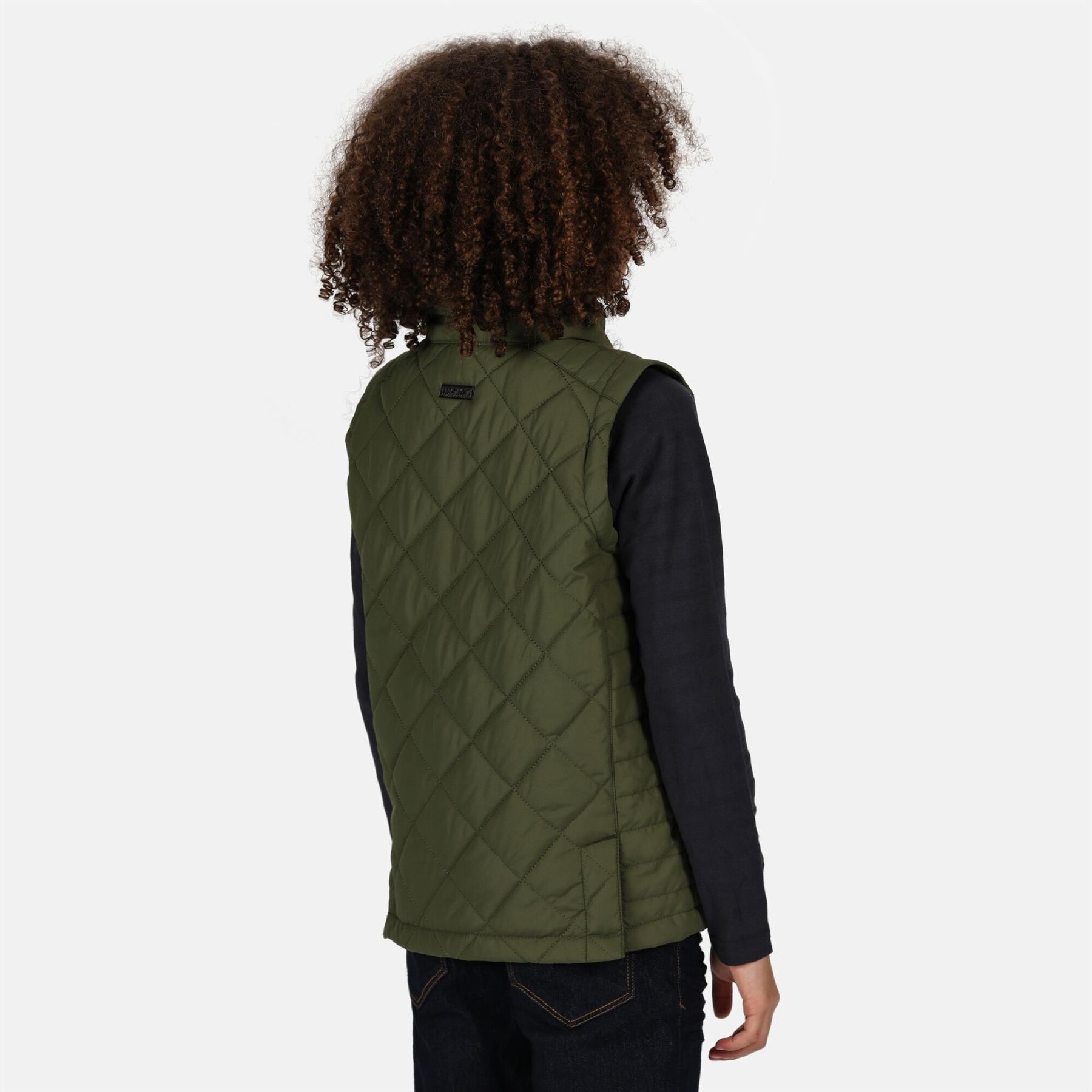 miniatuur 4 - Regatta Kids Zion Quilted Insulated Bodywarmer Gilet Zip Pockets