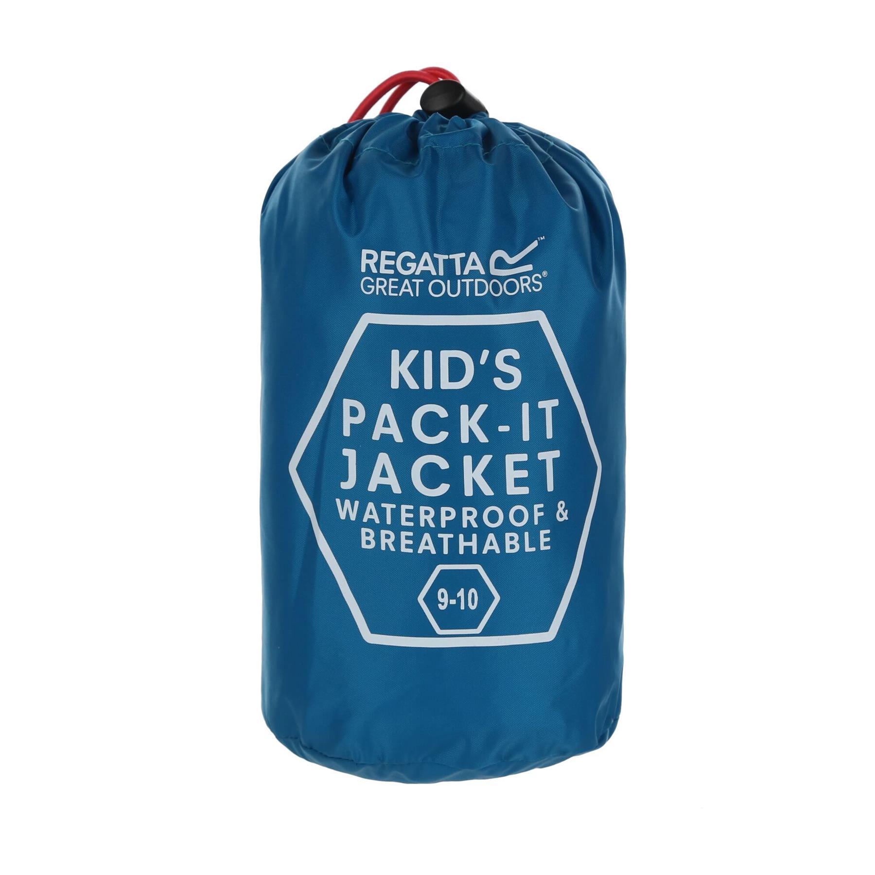 miniatuur 33 - Regatta Kids Pack it Jacket II Lightweight Waterproof Packaway Jacket Boys Girls