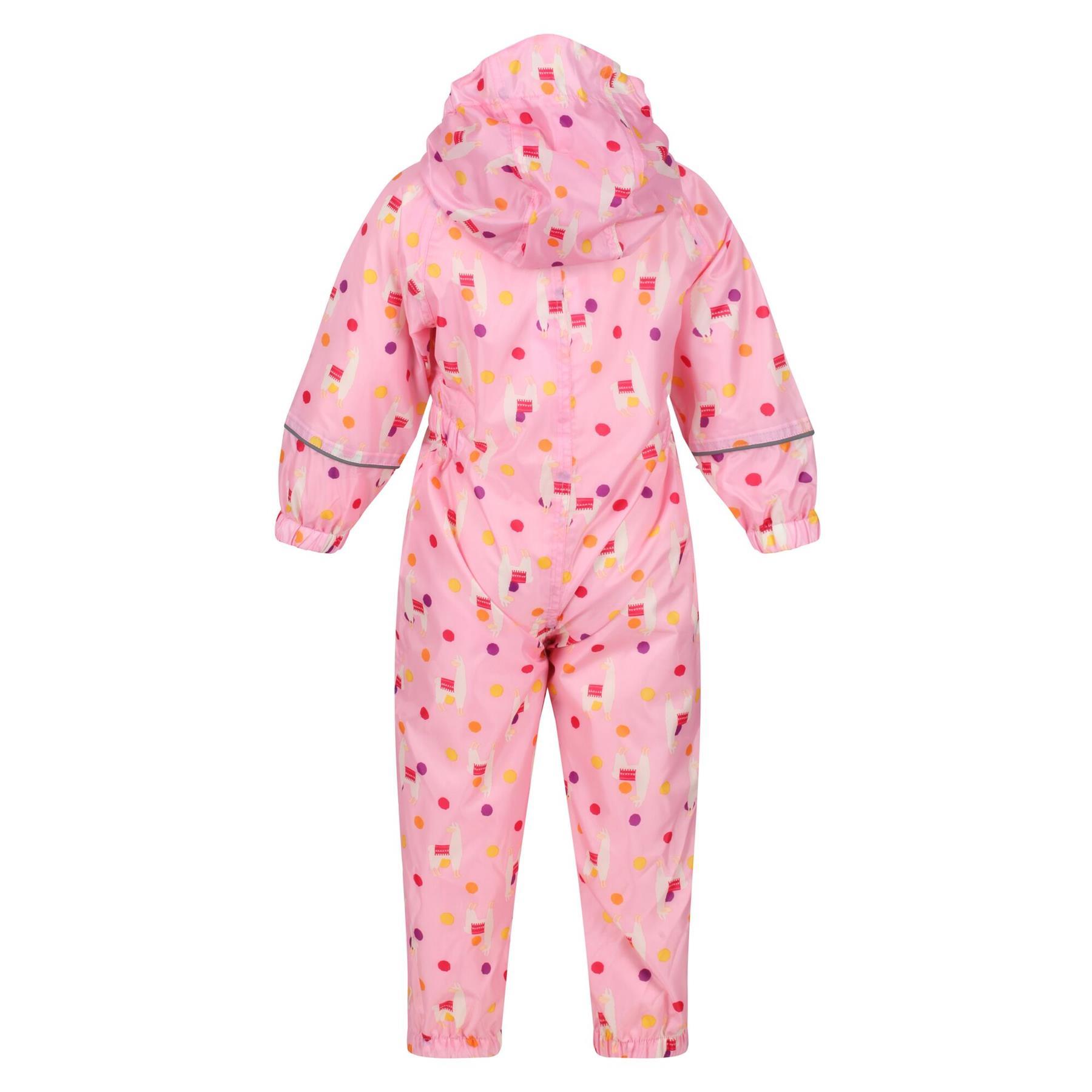 miniatuur 35 - Regatta Pobble Rain suit Waterproof All In One Childrens Kids Boys Girls