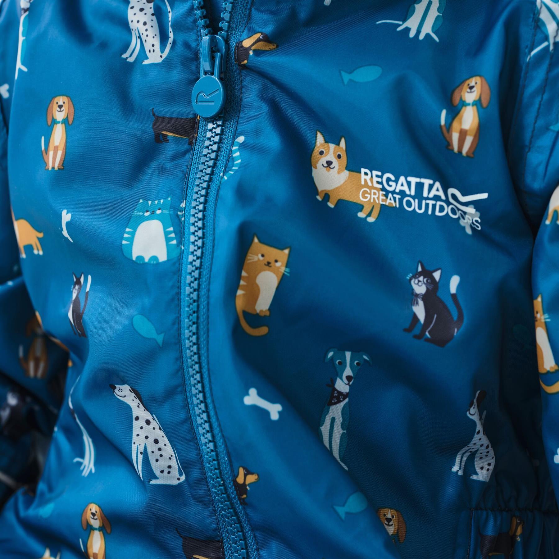 miniatuur 24 - Regatta Pobble Rain suit Waterproof All In One Childrens Kids Boys Girls
