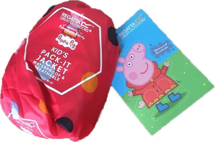miniatuur 28 - Regatta Kids Pack it Jacket II Lightweight Waterproof Packaway Jacket Boys Girls