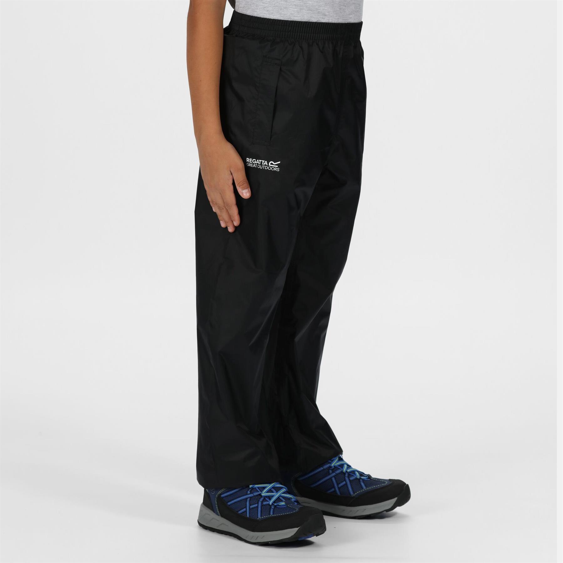 miniatuur 3 - Regatta Kids Pack It Waterproof Packable Overtrousers Boys Girls Trousers
