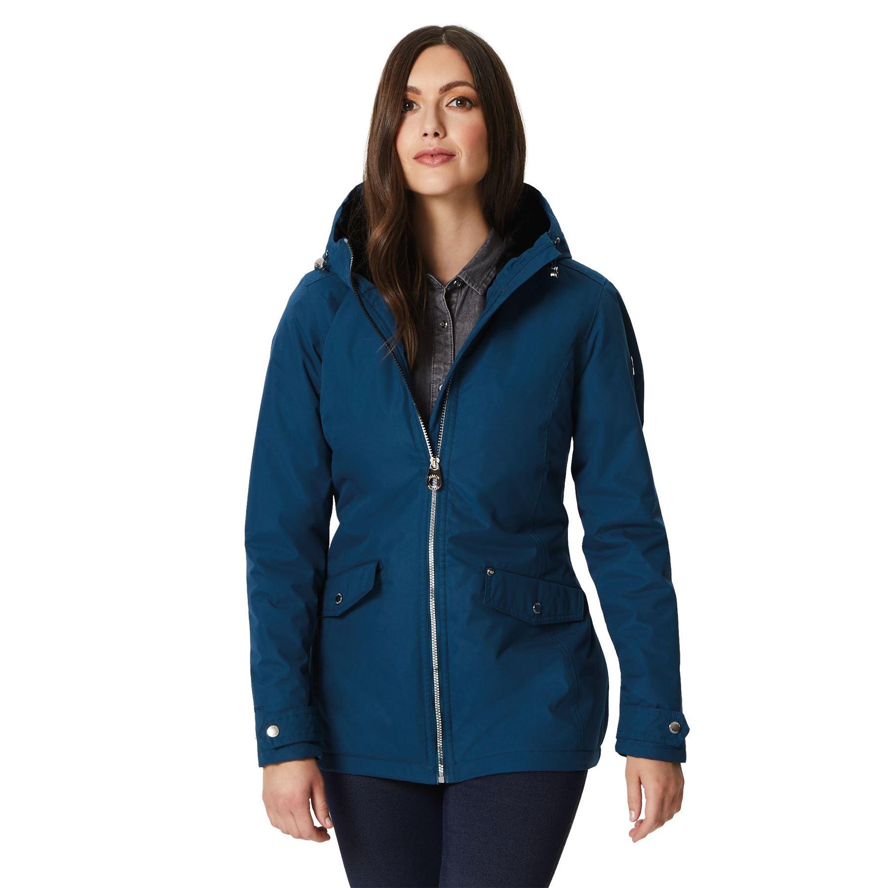 Regatta Bergonia Womens Waterproof Rain Jacket Ladies Outdoor Coat