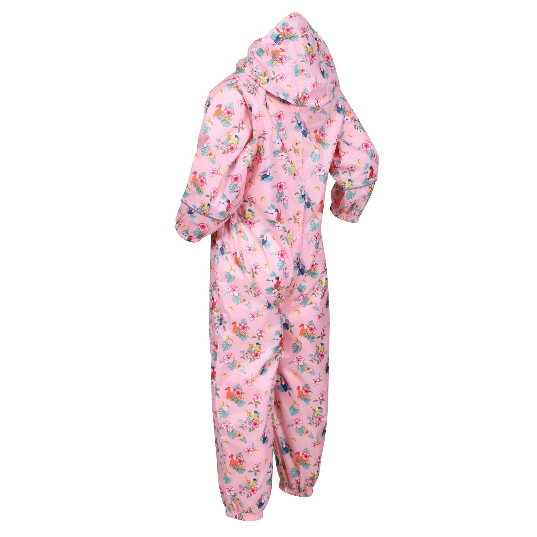 miniatuur 17 - Regatta Pobble Rain suit Waterproof All In One Childrens Kids Boys Girls