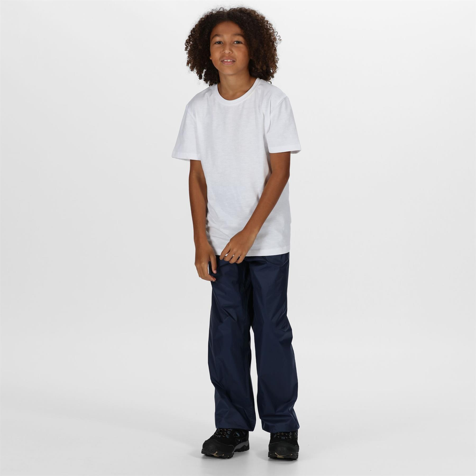 miniatuur 10 - Regatta Kids Pack It Waterproof Packable Overtrousers Boys Girls Trousers