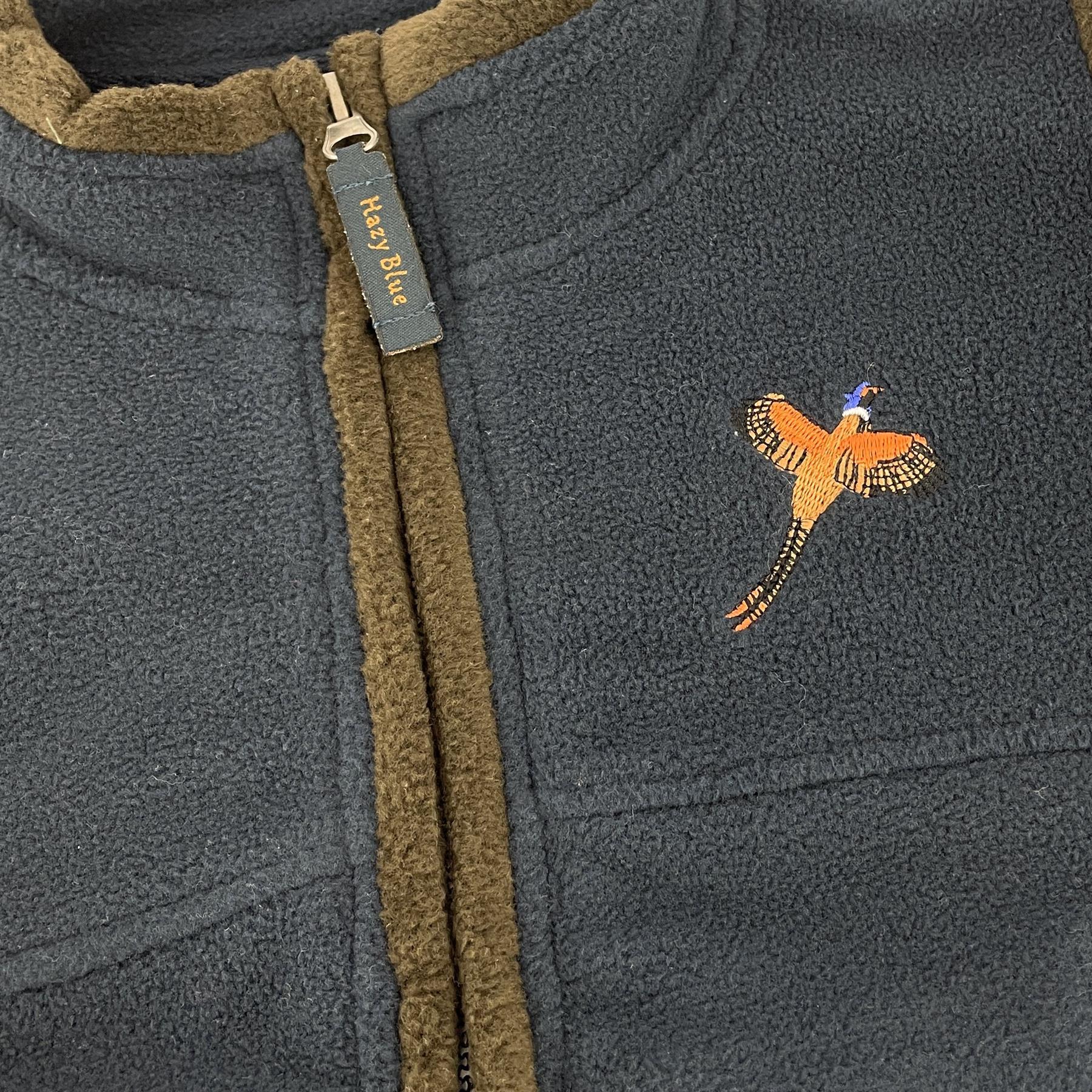 miniatuur 10 - Hazy Blue Kids Angus Pheasant Bodywarmer Boys Girls Gilet Vest Country Fleece