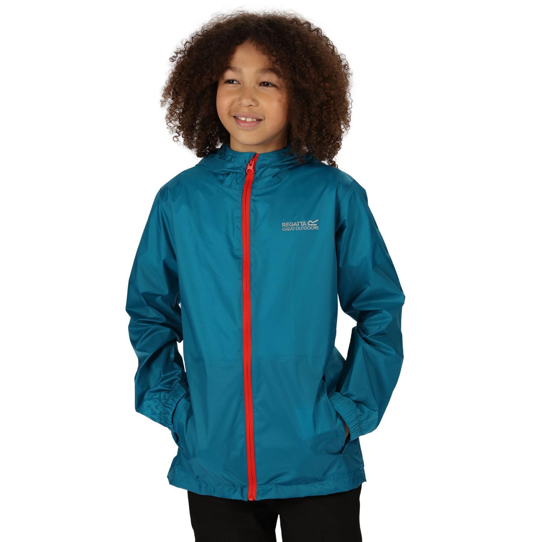 miniatuur 30 - Regatta Kids Pack it Jacket II Lightweight Waterproof Packaway Jacket Boys Girls
