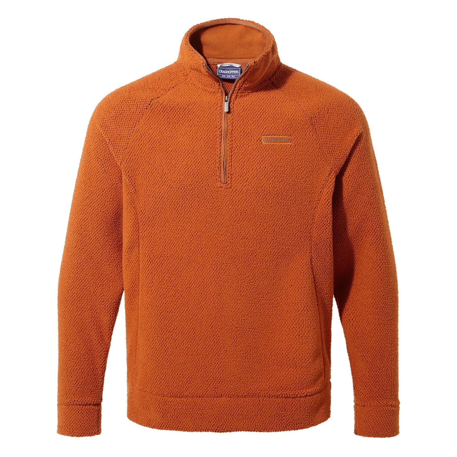 miniatuur 15 - Craghopper Mens Cason Fleece Half Zip Bobble Soft Jumper Pullover Sweater