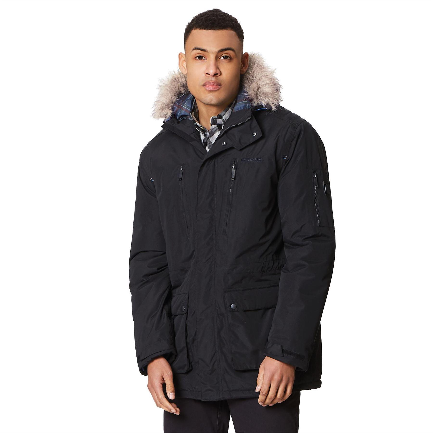 Regatta Salinger Mens Waterproof Parka Style Hooded Jacket Breathable