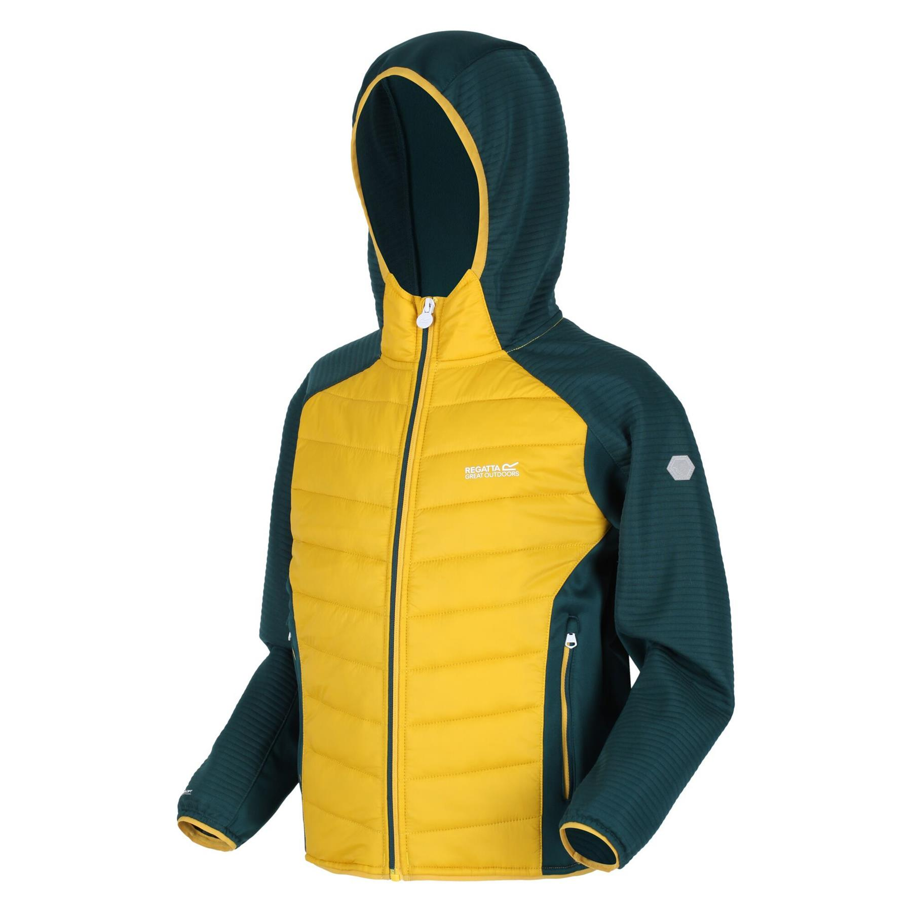 miniatuur 8 - Regatta Kids Kielder IV Lightweight Hybrid Softshell Jacket Boys Girls Coat