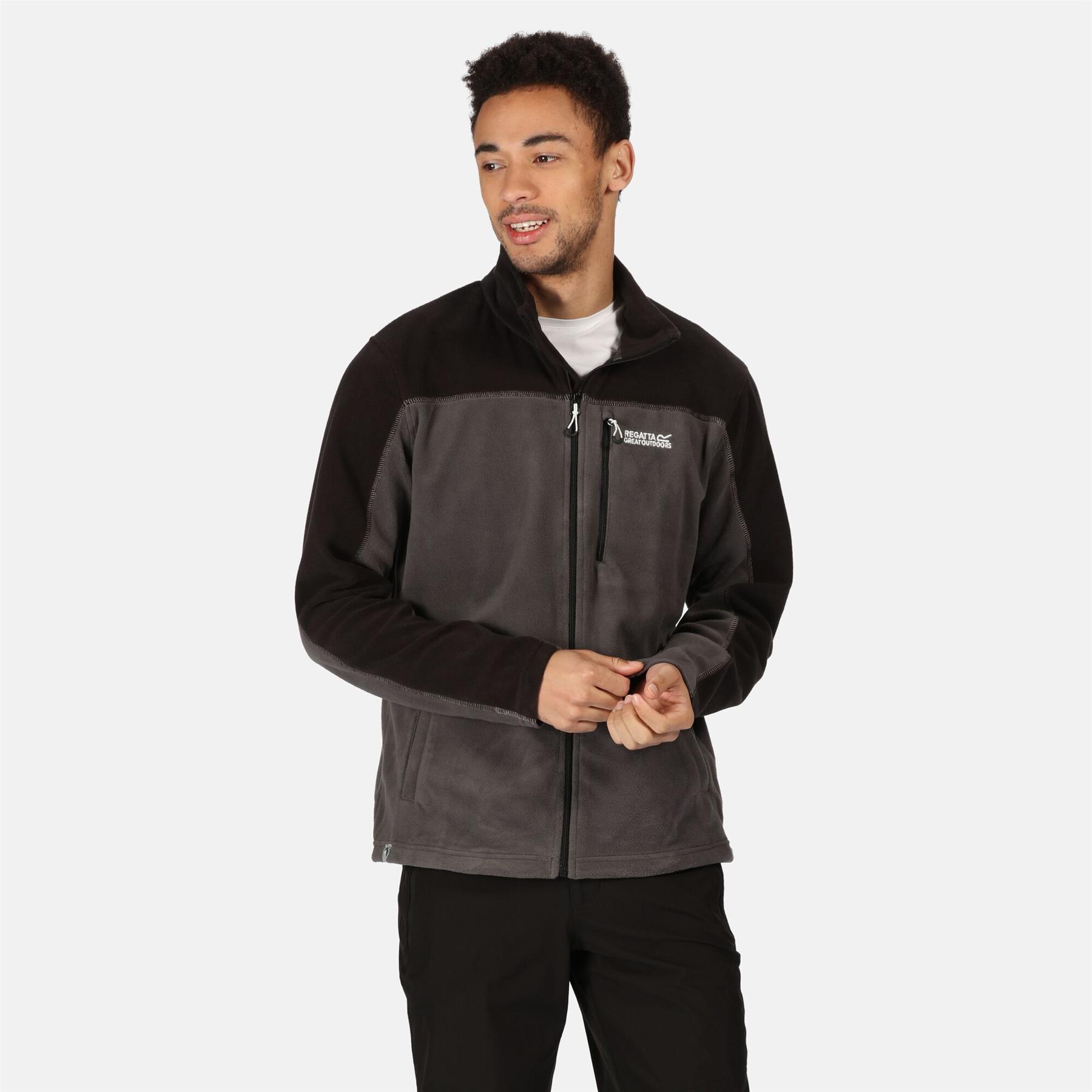 miniatuur 8 - Regatta Mens Fellard Fleece Jacket Full Zip Up Coat S M L XL 2XL 3XL 4XL