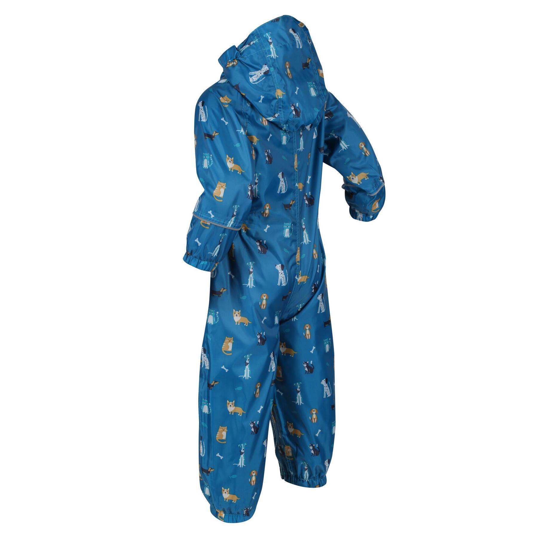 miniatuur 23 - Regatta Pobble Rain suit Waterproof All In One Childrens Kids Boys Girls