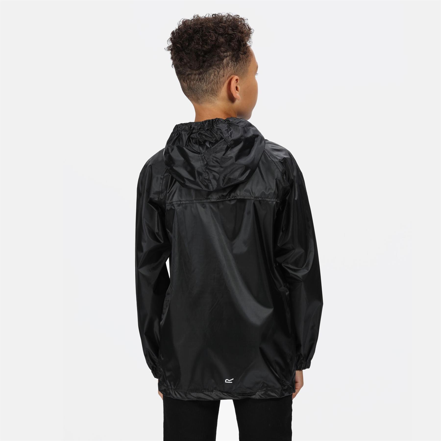 miniatuur 5 - Regatta Kids Waterproof Stormbreak Shell Jacket Hooded Rain coat Boys Girls
