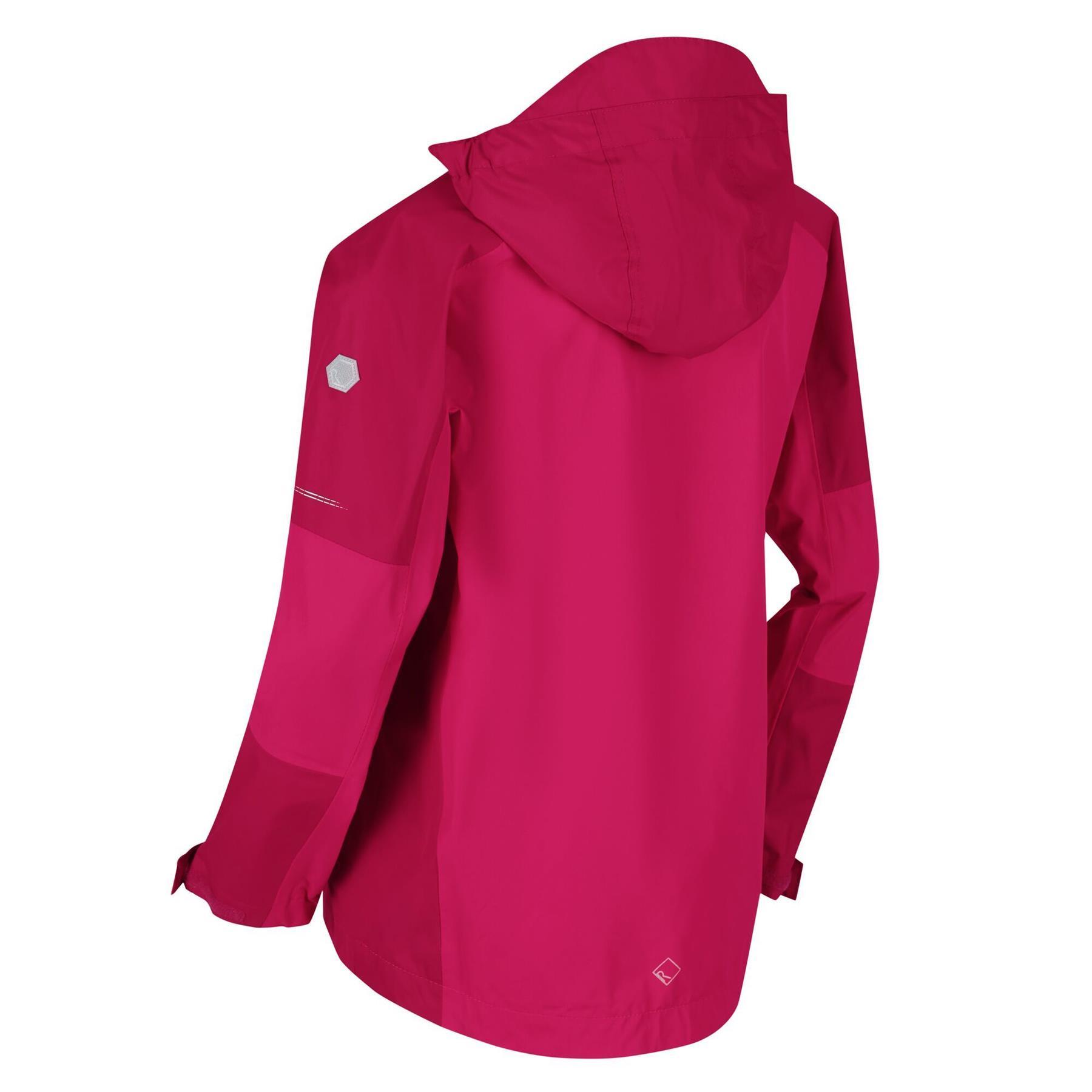 miniatuur 6 - Regatta Kids Calderdale II Waterproof Hooded Zip Pocket Jacket Boy Girls Coat