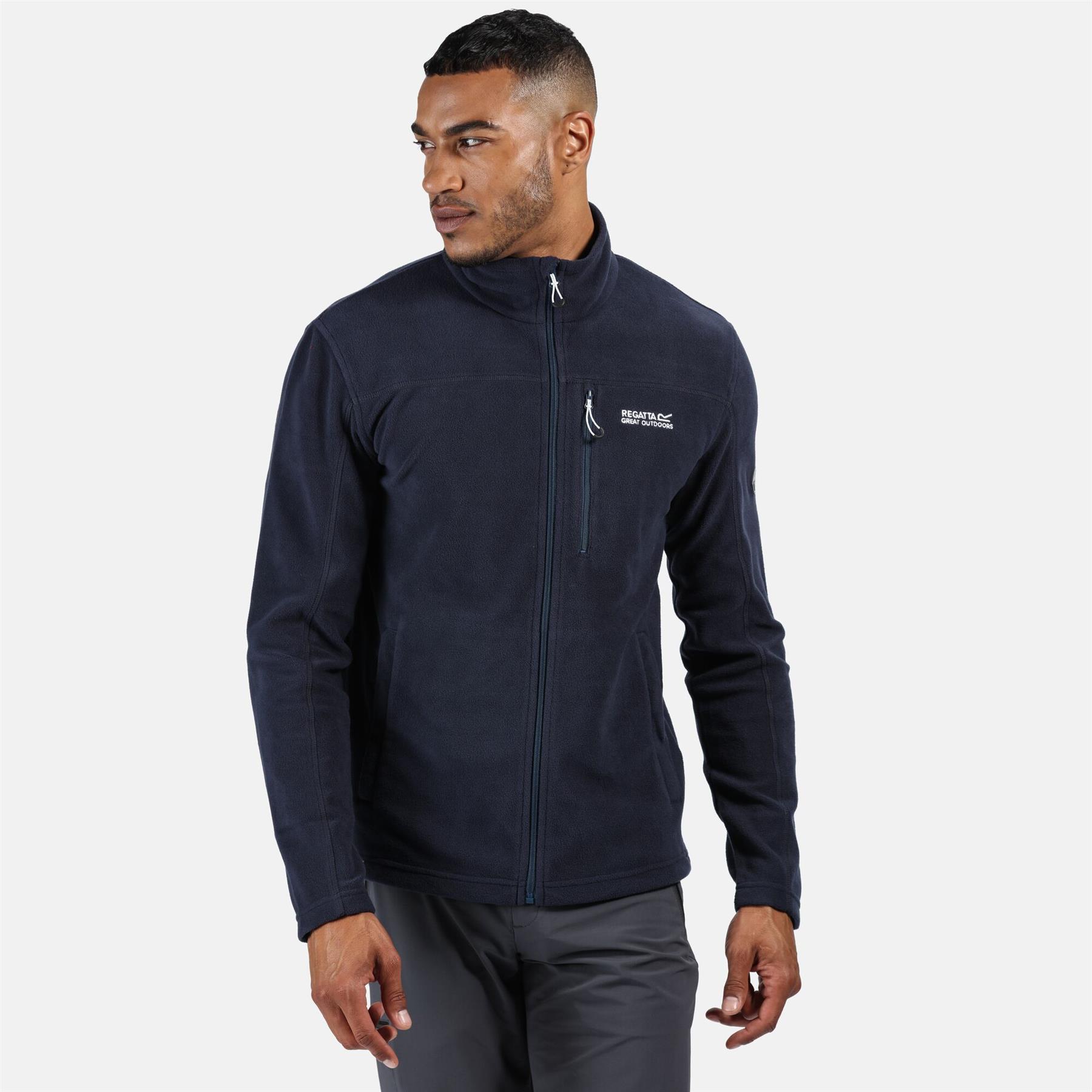 miniatuur 11 - Regatta Mens Fellard Fleece Jacket Full Zip Up Coat S M L XL 2XL 3XL 4XL