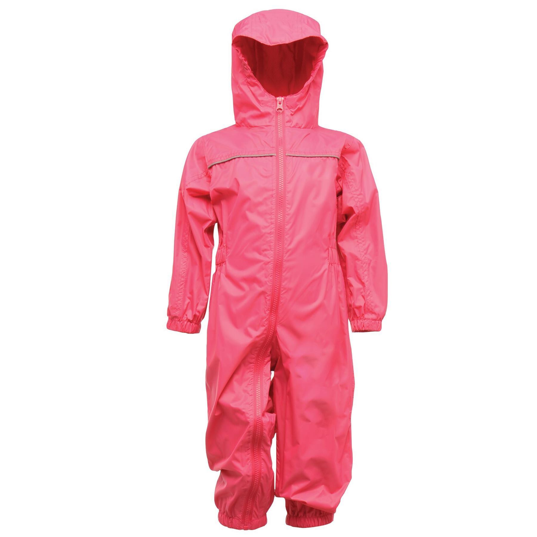 miniatuur 10 - Regatta Kids Rain Suit Puddle Paddle Boys Girls All in One Splash Waterproof