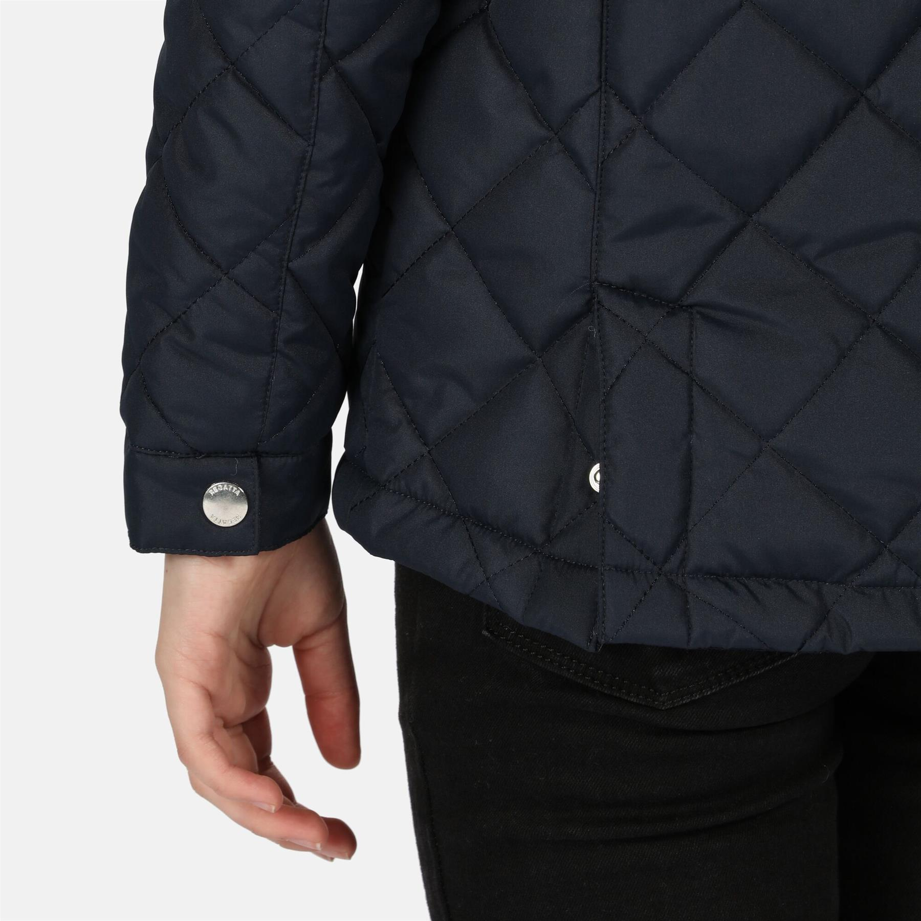 miniatuur 7 - Regatta Kids Zalenka Quilted Insulated Zipped Pocket Jacket Boys Girls
