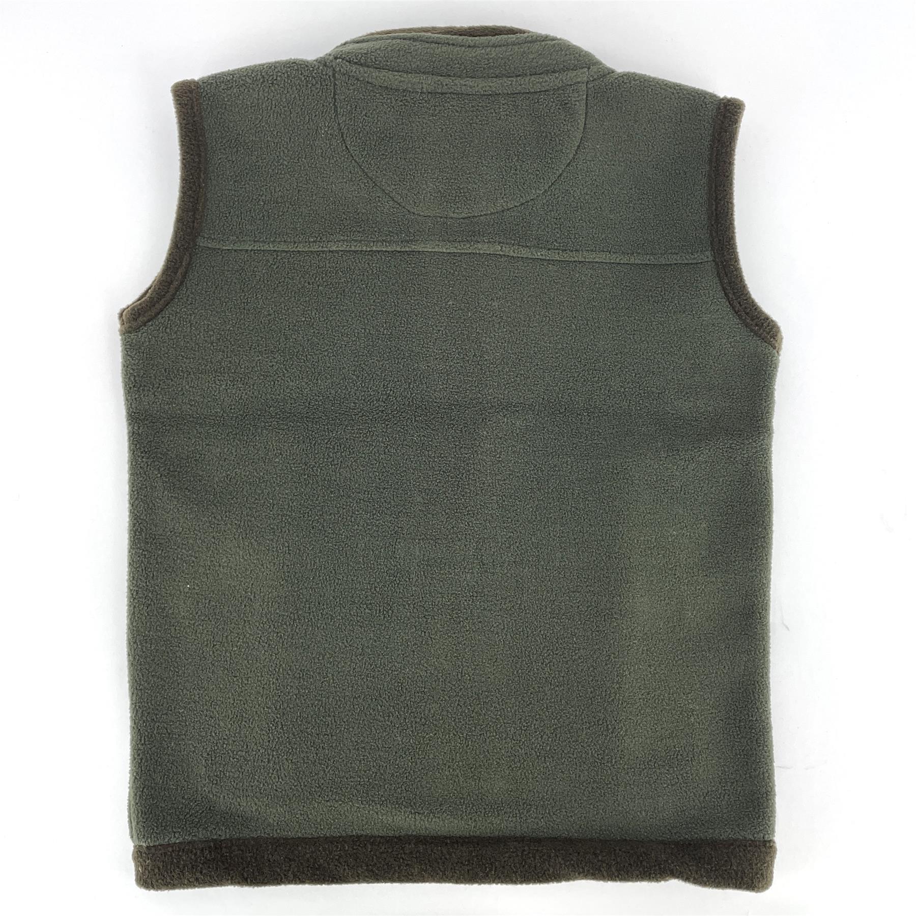 miniatuur 6 - Hazy Blue Kids Angus Pheasant Bodywarmer Boys Girls Gilet Vest Country Fleece
