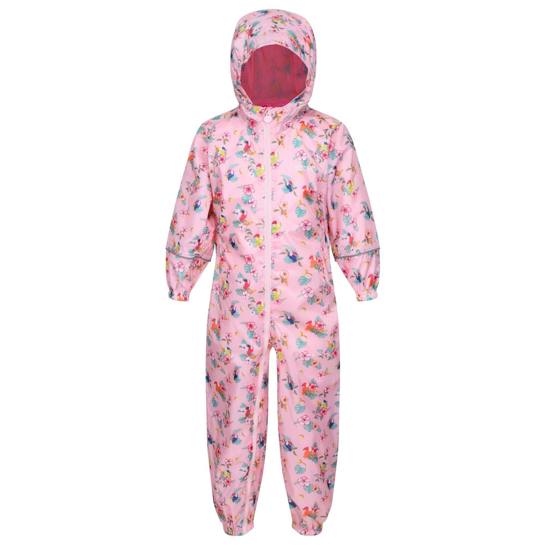 miniatuur 18 - Regatta Pobble Rain suit Waterproof All In One Childrens Kids Boys Girls