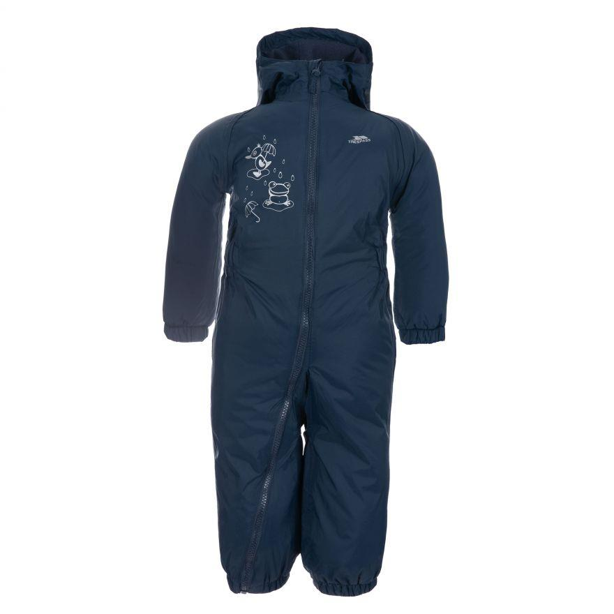 miniatuur 7 - Trespass Babies Infants Dripdrop Padded Waterproof Outdoor Puddle Suit Rain Suit