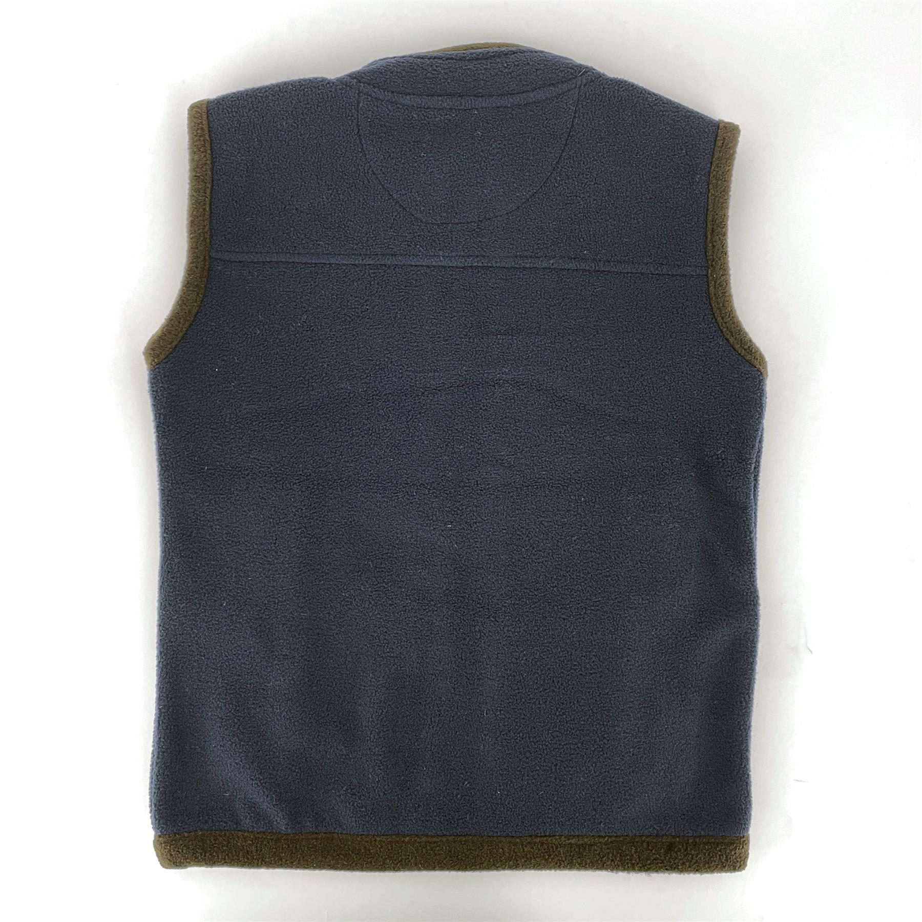 miniatuur 8 - Hazy Blue Kids Angus Pheasant Bodywarmer Boys Girls Gilet Vest Country Fleece