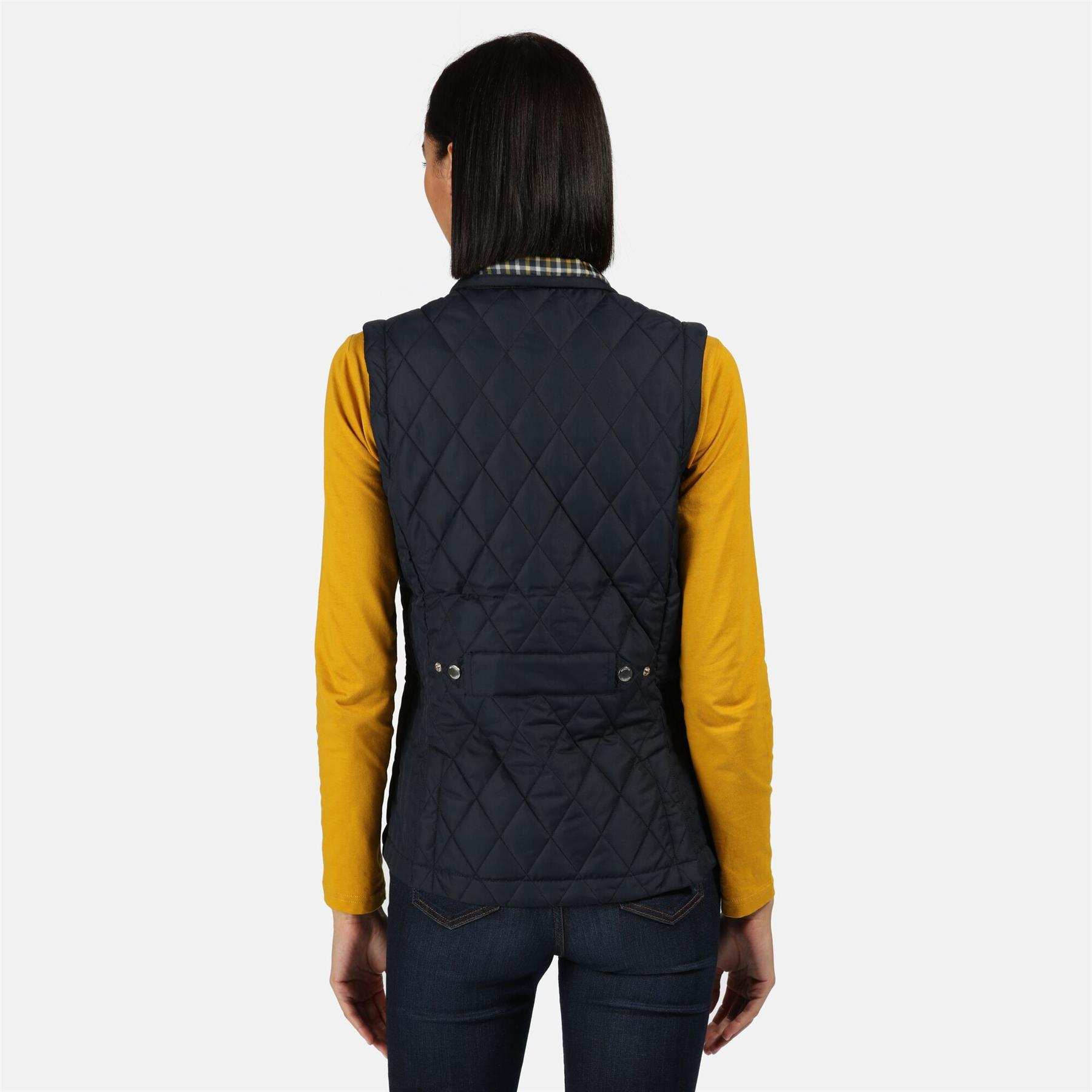thumbnail 7 - Regatta Womens Charna Insulated Diamond Quilted Bodywarmer Vented Gilet