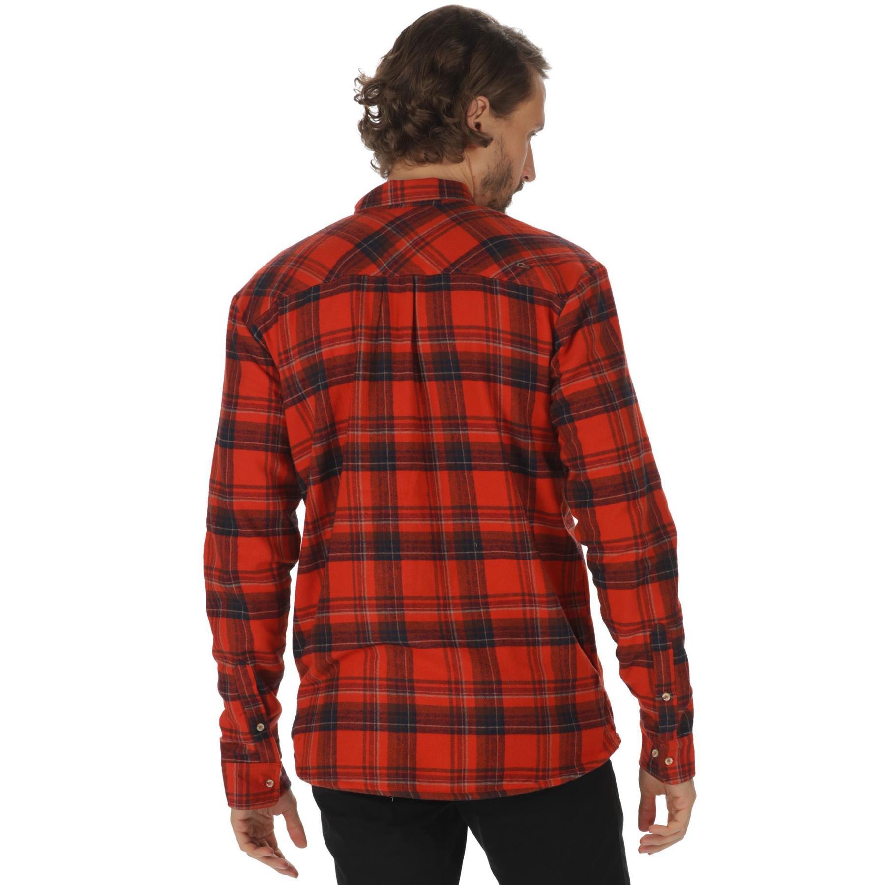 miniatuur 5 - Regatta Mens Tyrus Fleece Lined Long Sleeved Lumberjack Shirt Check