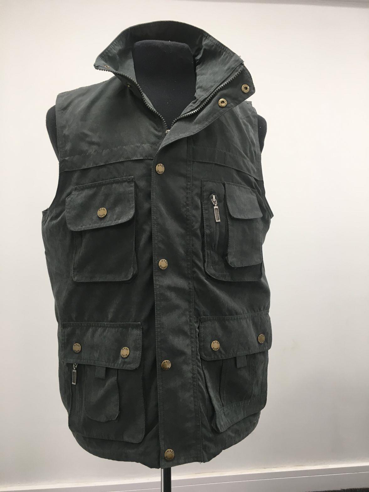 miniatuur 2 - Country Classics HAWK II Mens Padded Gilet Multi Pocket Bodywarmer Utility Vest
