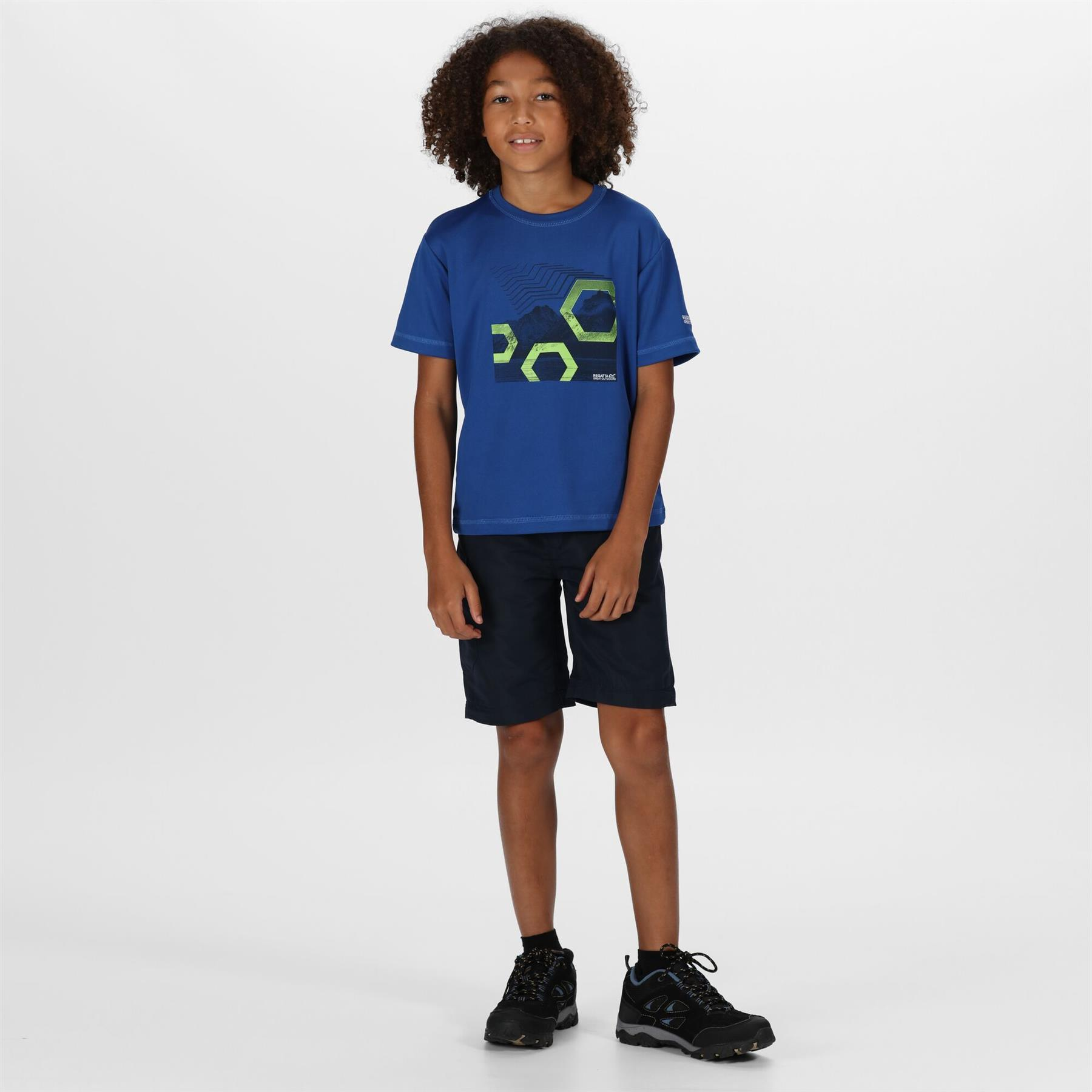 miniatuur 4 - Regatta Kids Sorcer II Zip Off Convertible Trousers Boys Girls