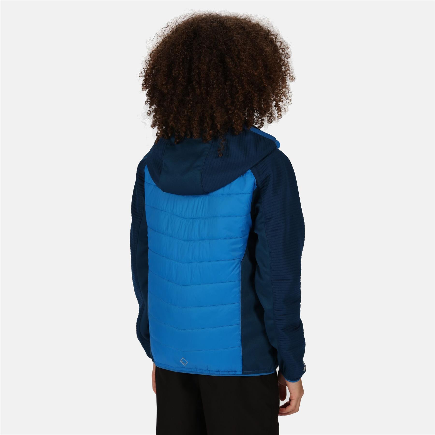 miniatuur 4 - Regatta Kids Kielder IV Lightweight Hybrid Softshell Jacket Boys Girls Coat