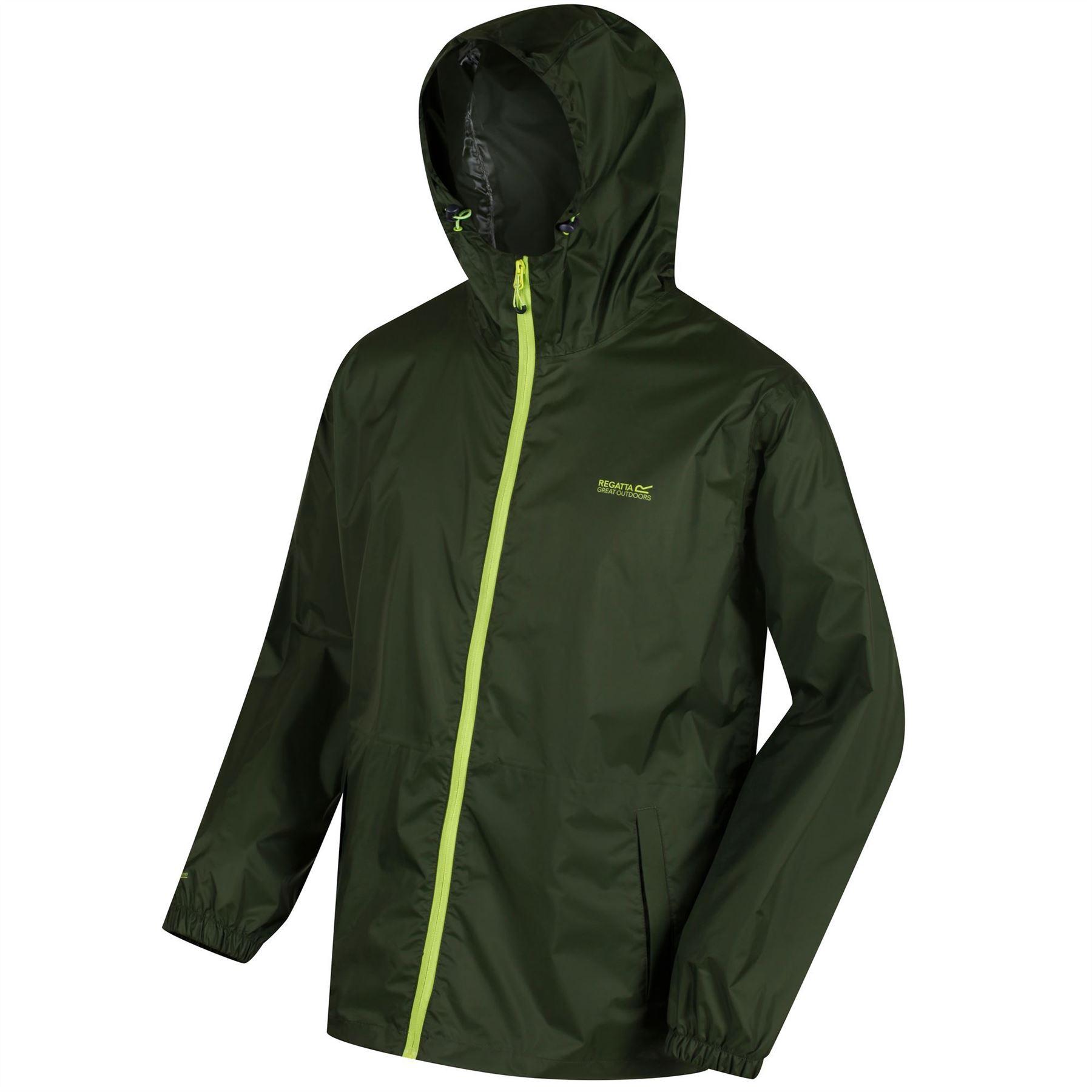 miniatuur 15 - Regatta Mens Pack-it In a bag Packable Waterproof Jacket Outdoor Pack a mac