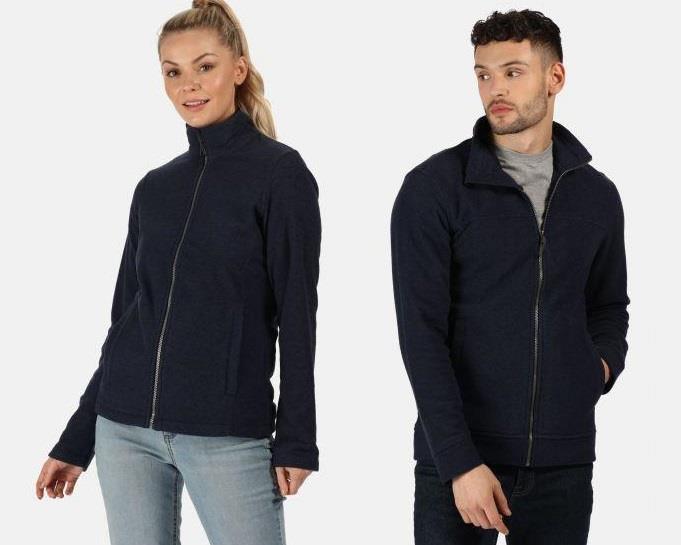 miniatuur 13 - Regatta Mens & Womens Parkline Full Zip Fleece Jacket Quick Drying Workwear