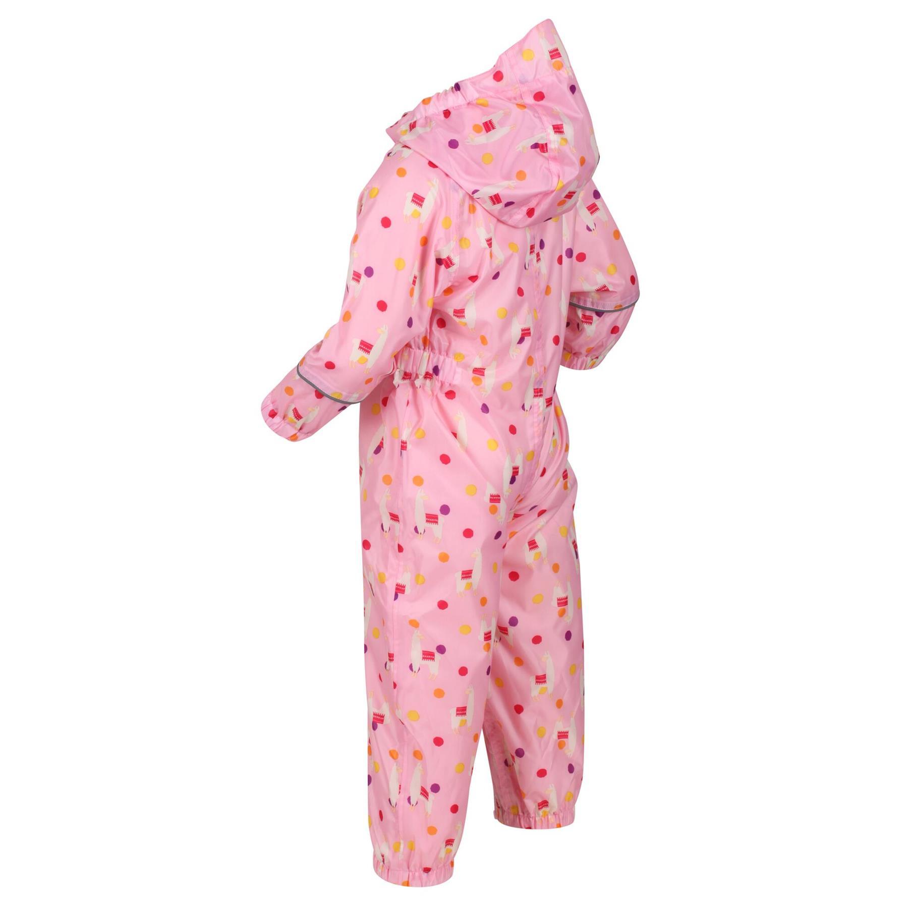 miniatuur 33 - Regatta Pobble Rain suit Waterproof All In One Childrens Kids Boys Girls